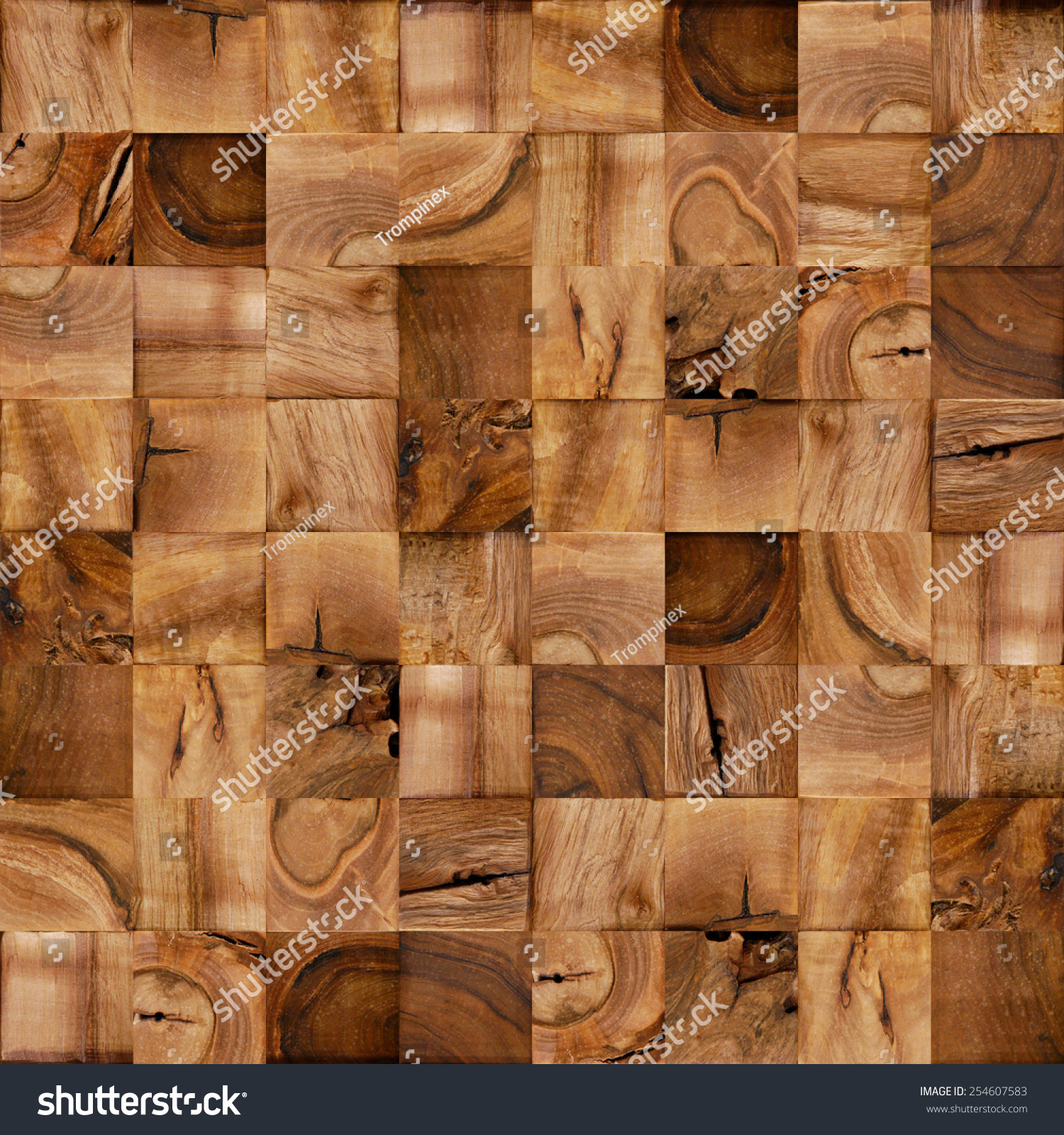Abstract Wooden Blocks Cube Pattern Checkered Stock Illustration ...