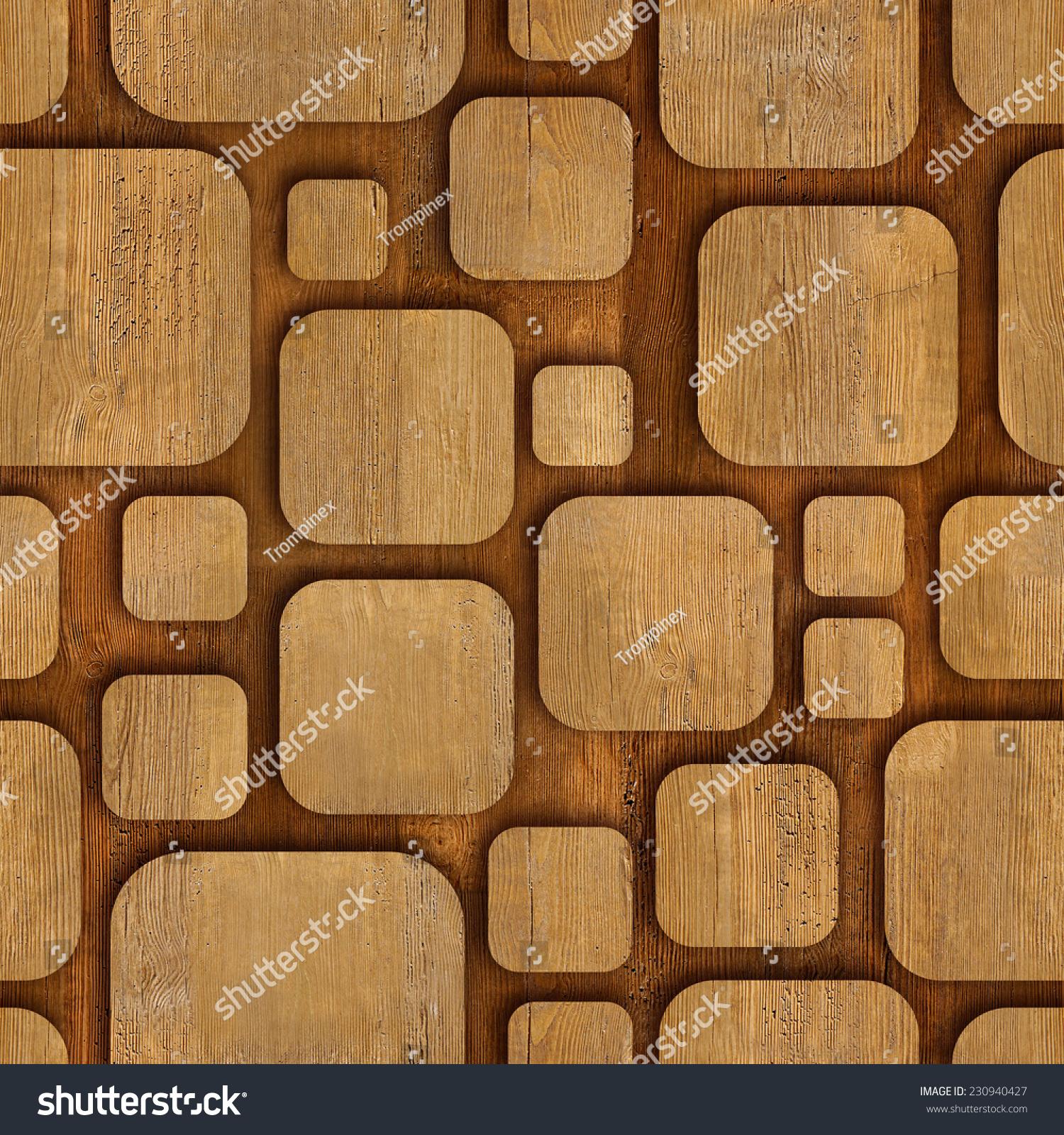 Geometric Wooden Blocks Seamless Background Abstract Stock Photo ...