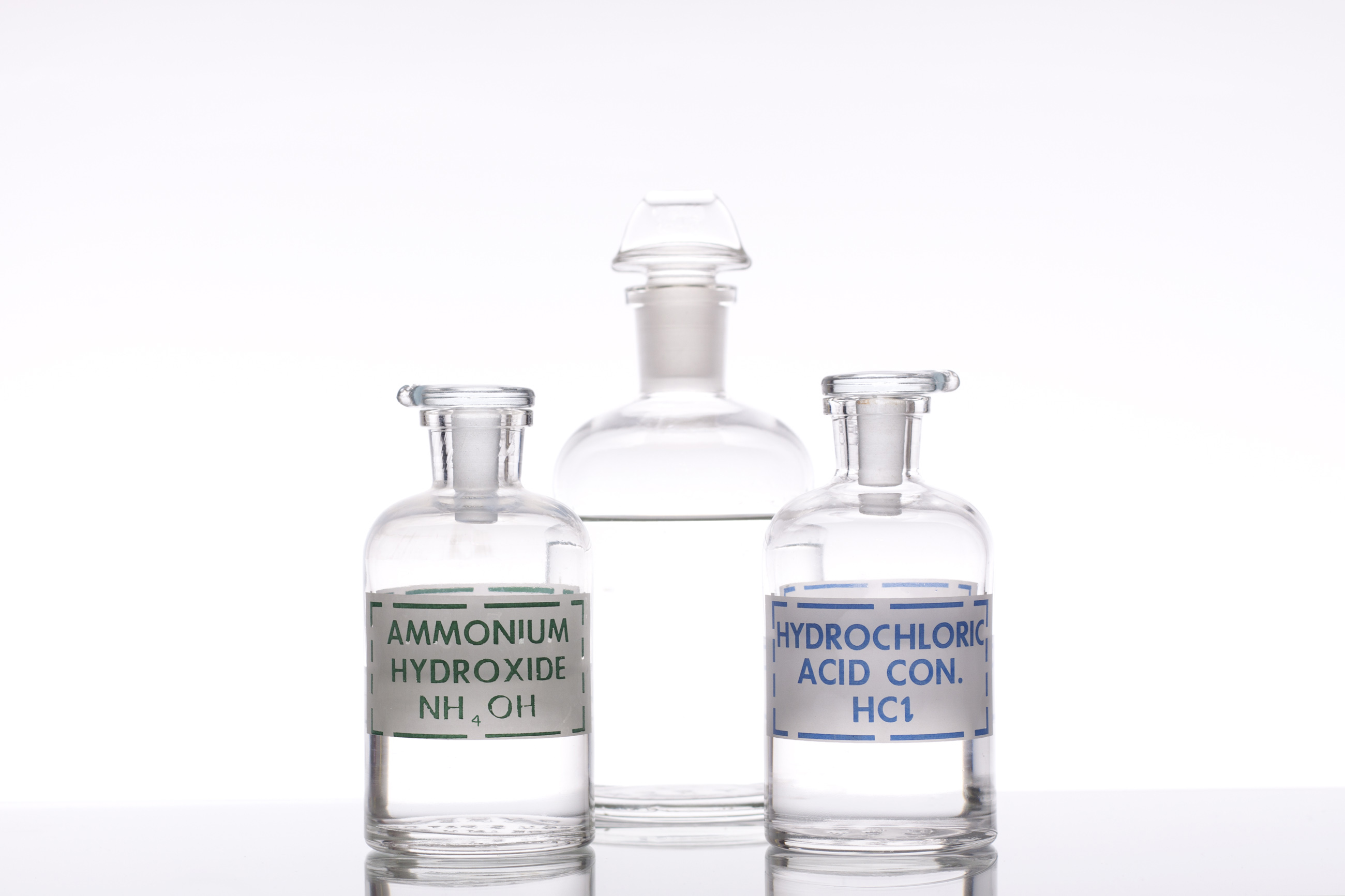 Acid and base solutions photo