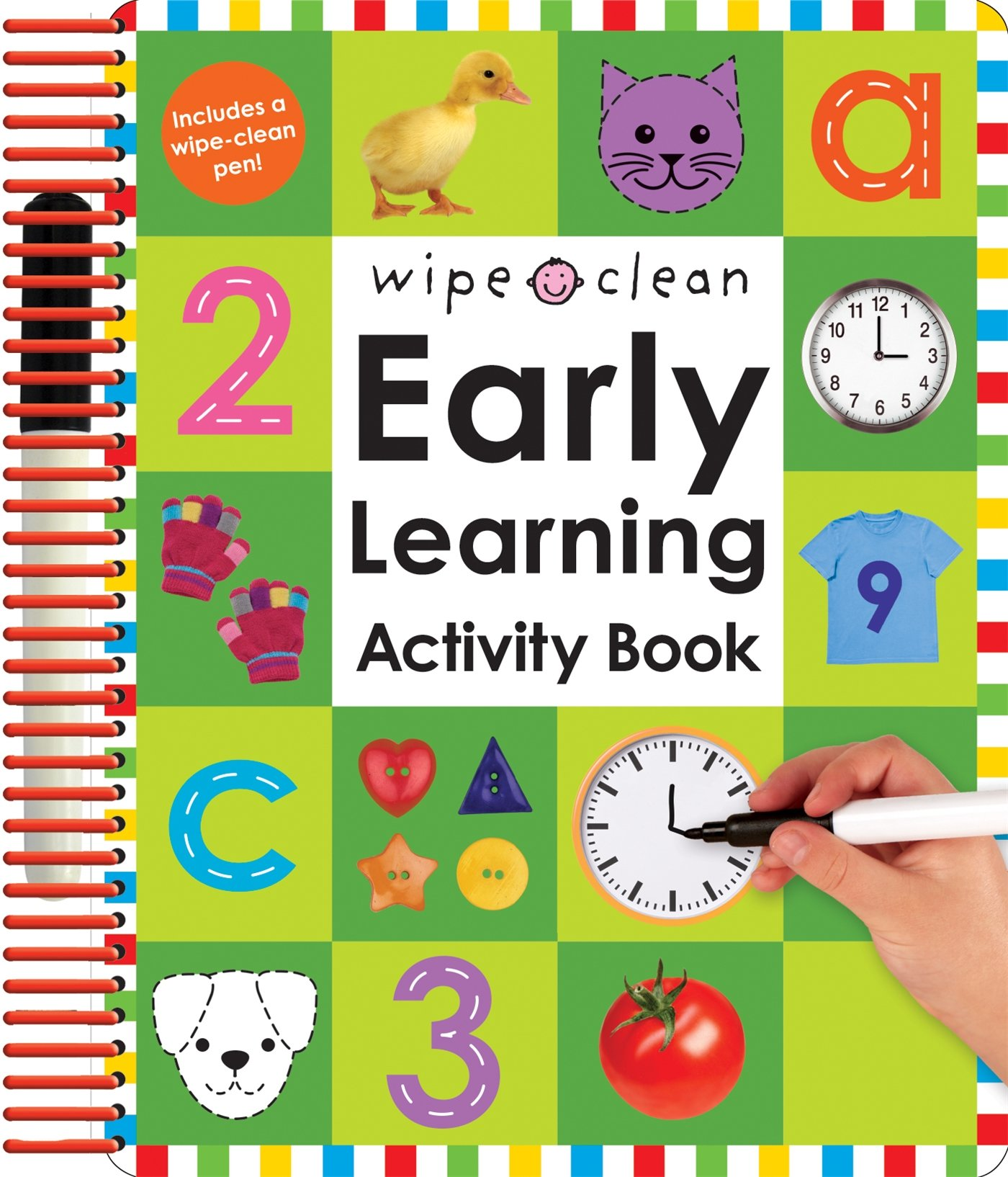 Amazon.com: Wipe Clean: Early Learning Activity Book (Wipe Clean ...