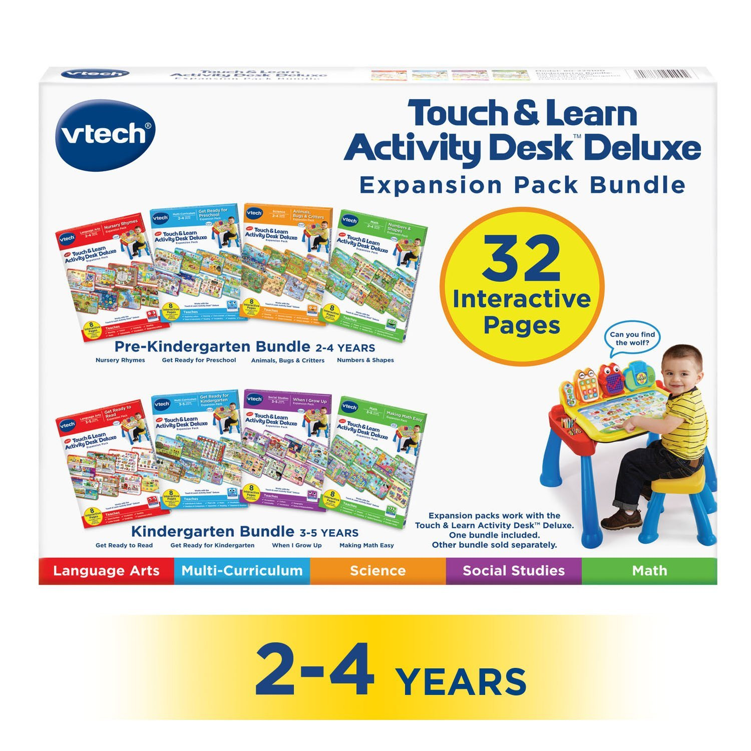 Amazon.com: VTech Touch and Learn Activity Desk Deluxe 4-in-1 ...
