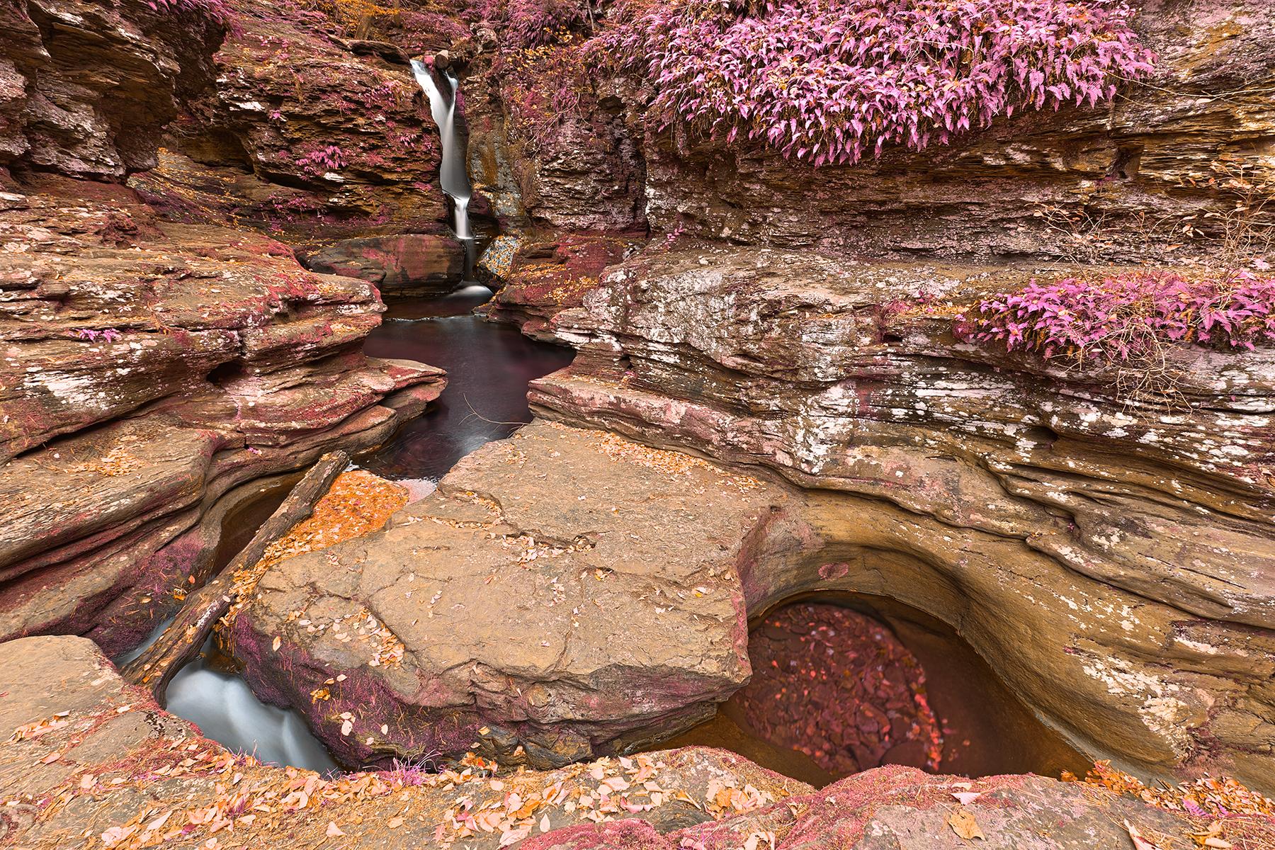 Adams triangle falls - pastel fantasy hdr photo