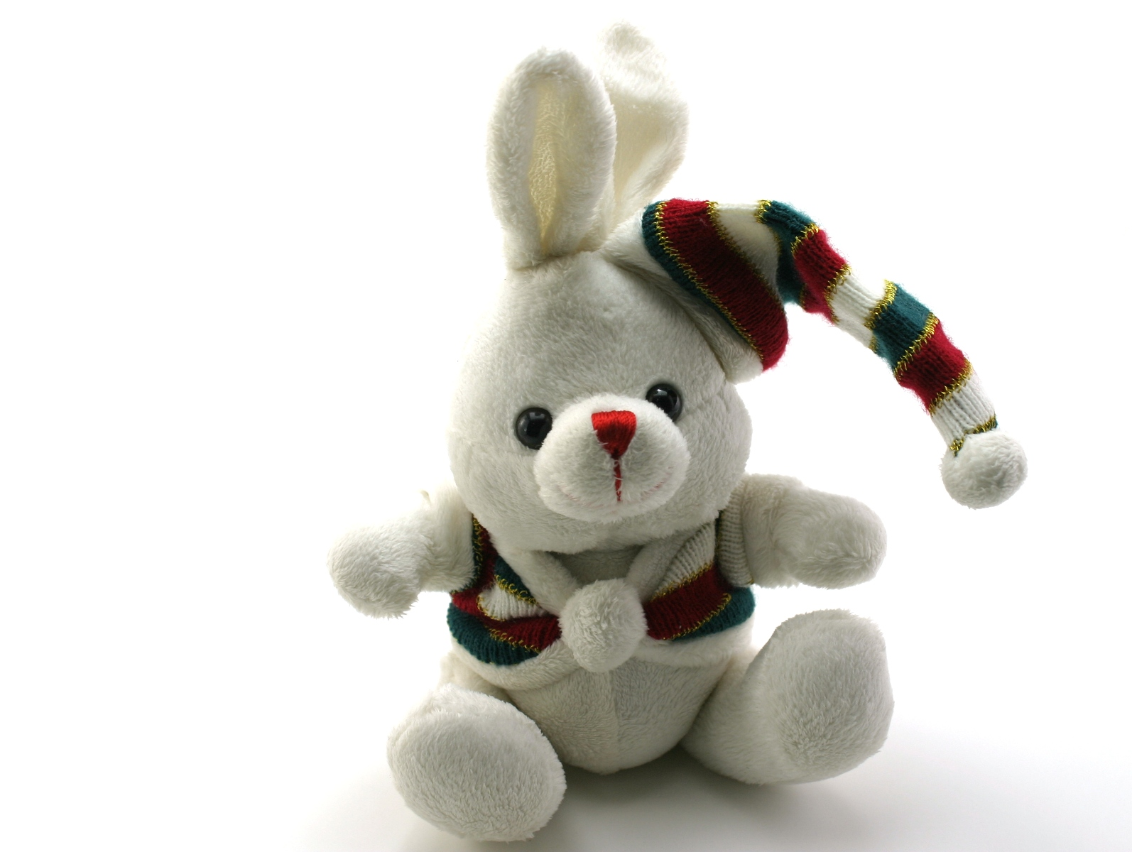 Adorable generic stuffed bunny, Adorable, Sitting, Isolated, Macro, HQ Photo
