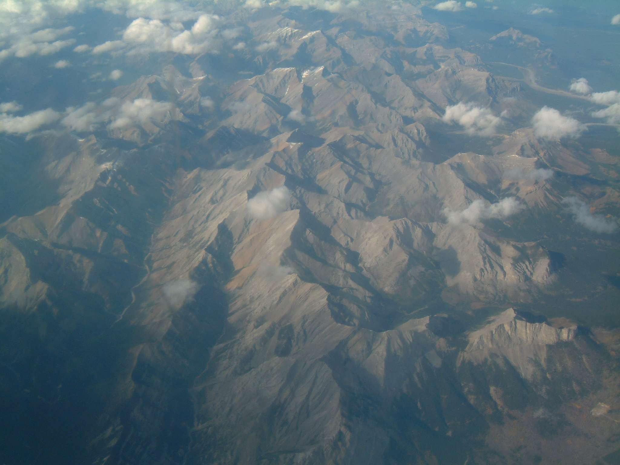 Aerial of Canadian rockies, Alberta, Aerial, Bspo07, Canada, Clouds, HQ Photo