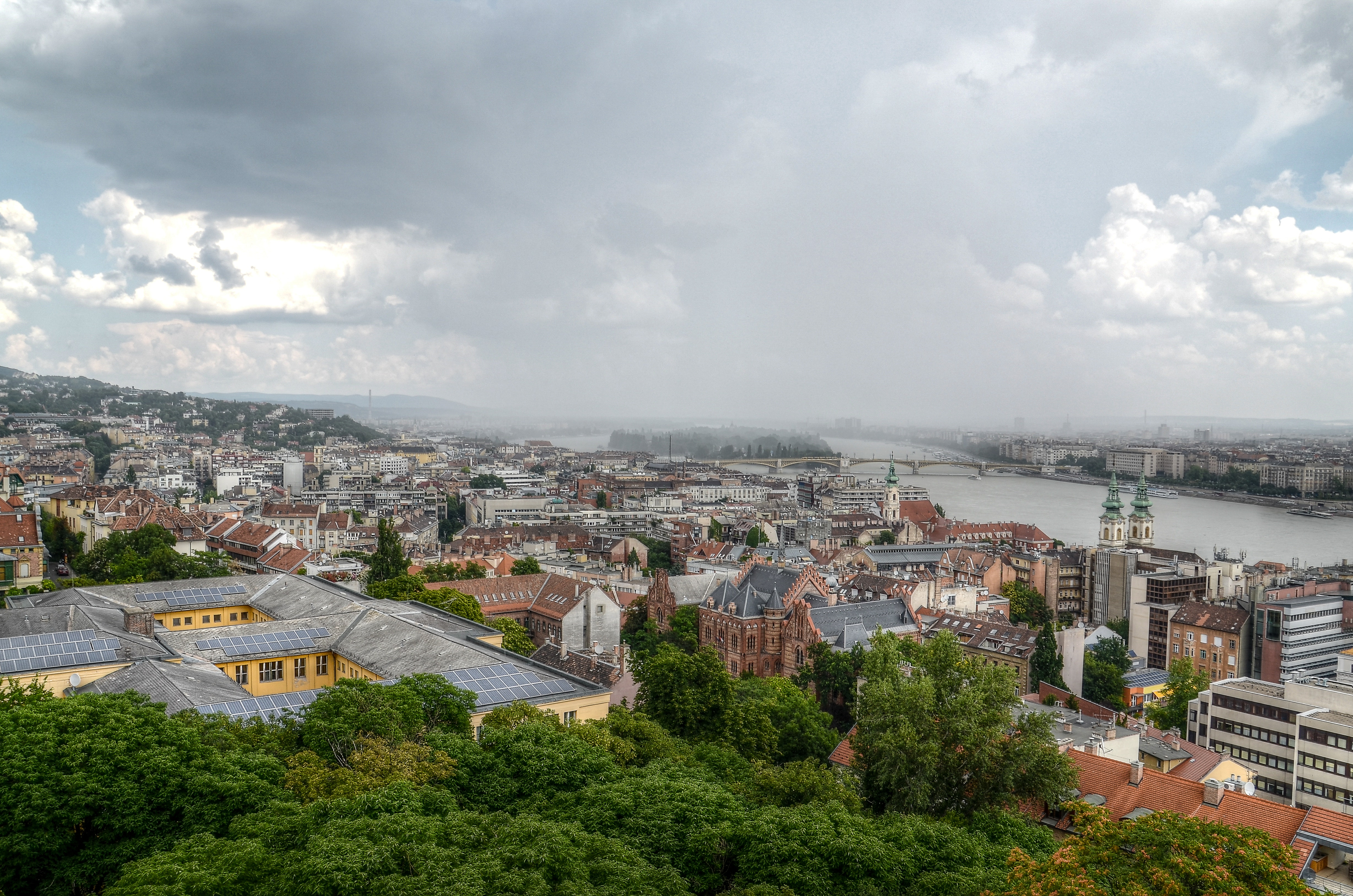 Aerial Photo Of A City Near Body Of Water, Budapest, Buildings, City, Cityscape, HQ Photo