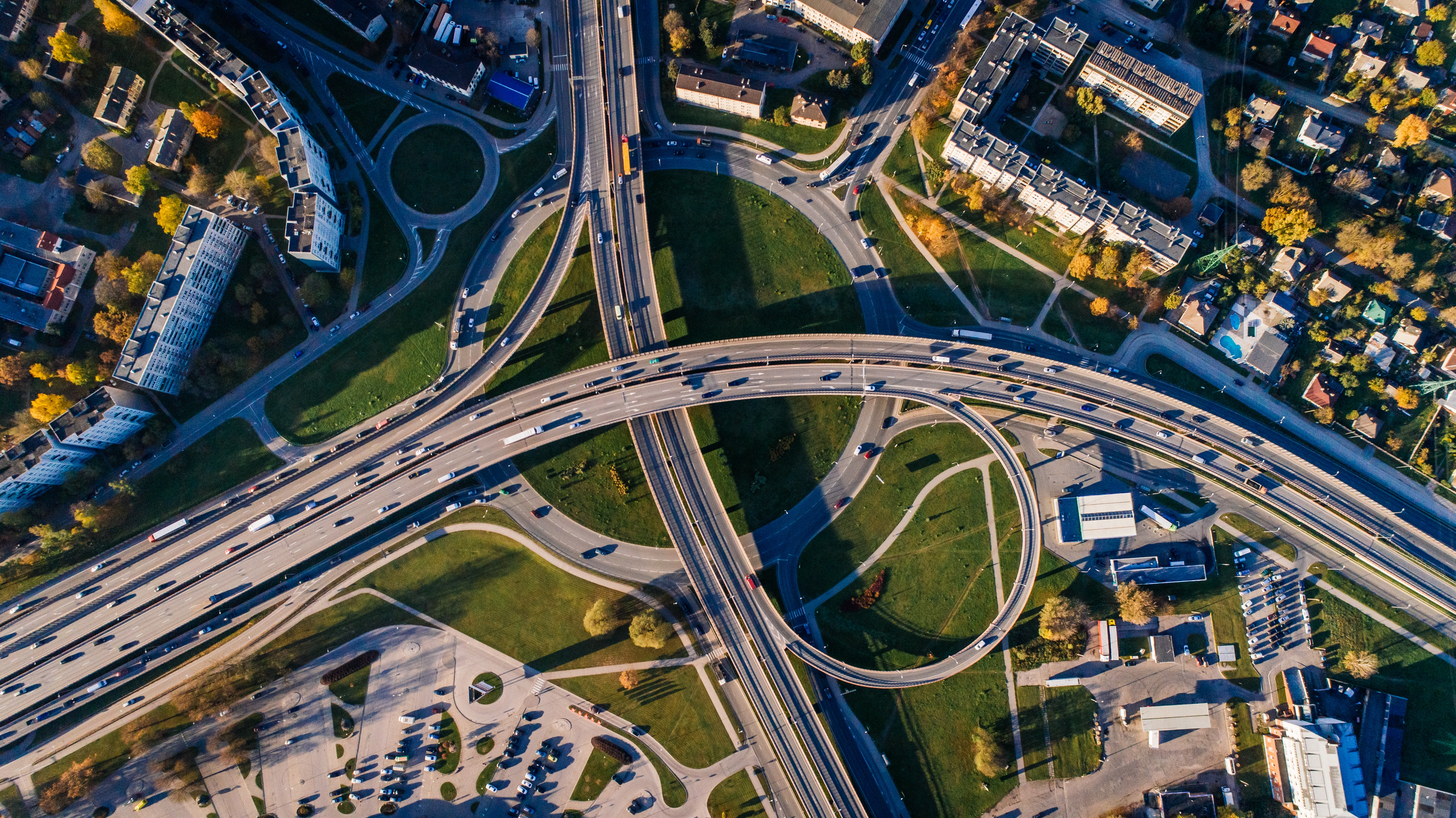 Aerial Photo of Buildings and Roads, Aerial view, Outdoors, Trees, Transportation system, HQ Photo
