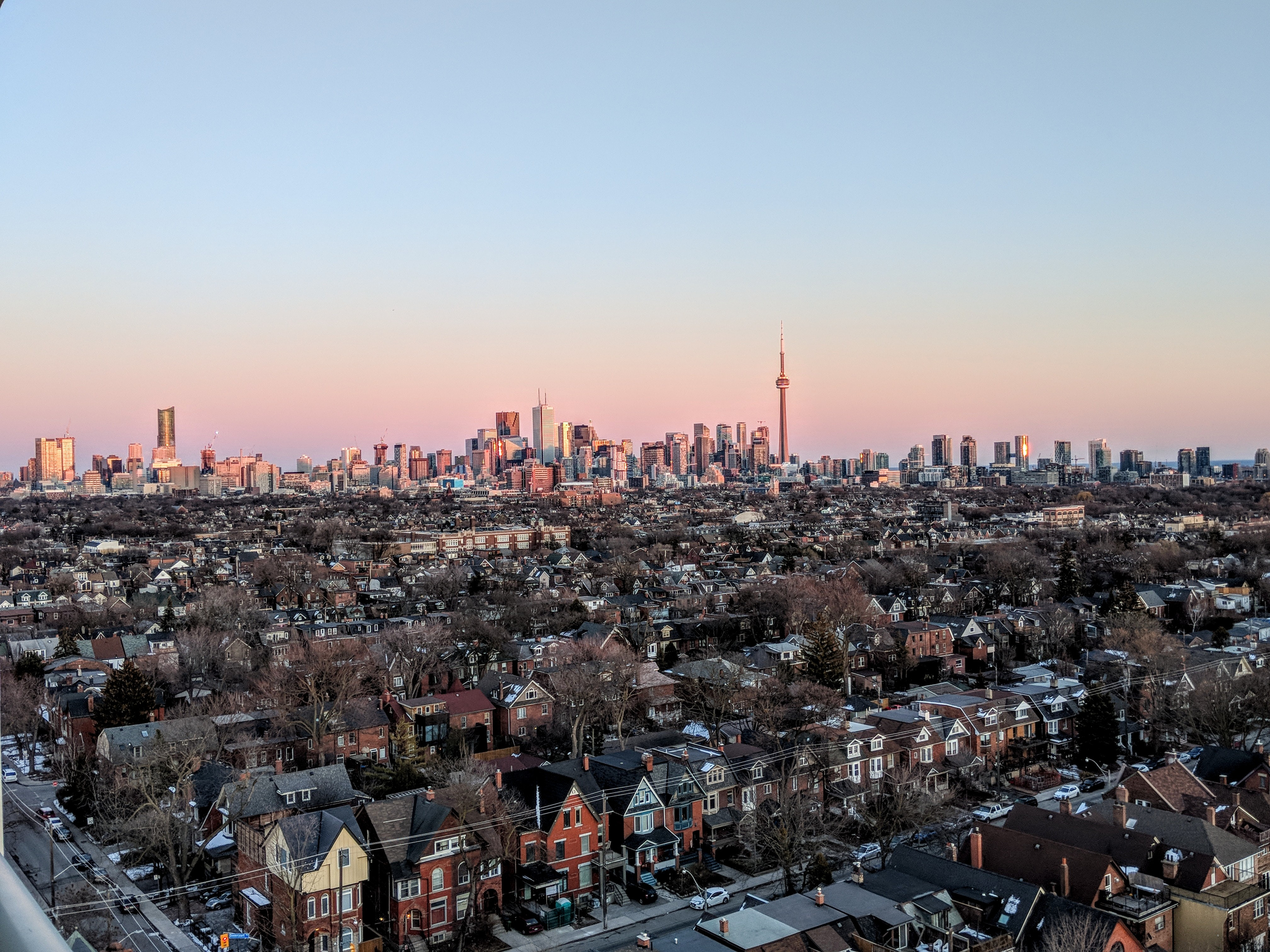 Aerial Photography of City, Architecture, Setting sun, Urban, Trees, HQ Photo