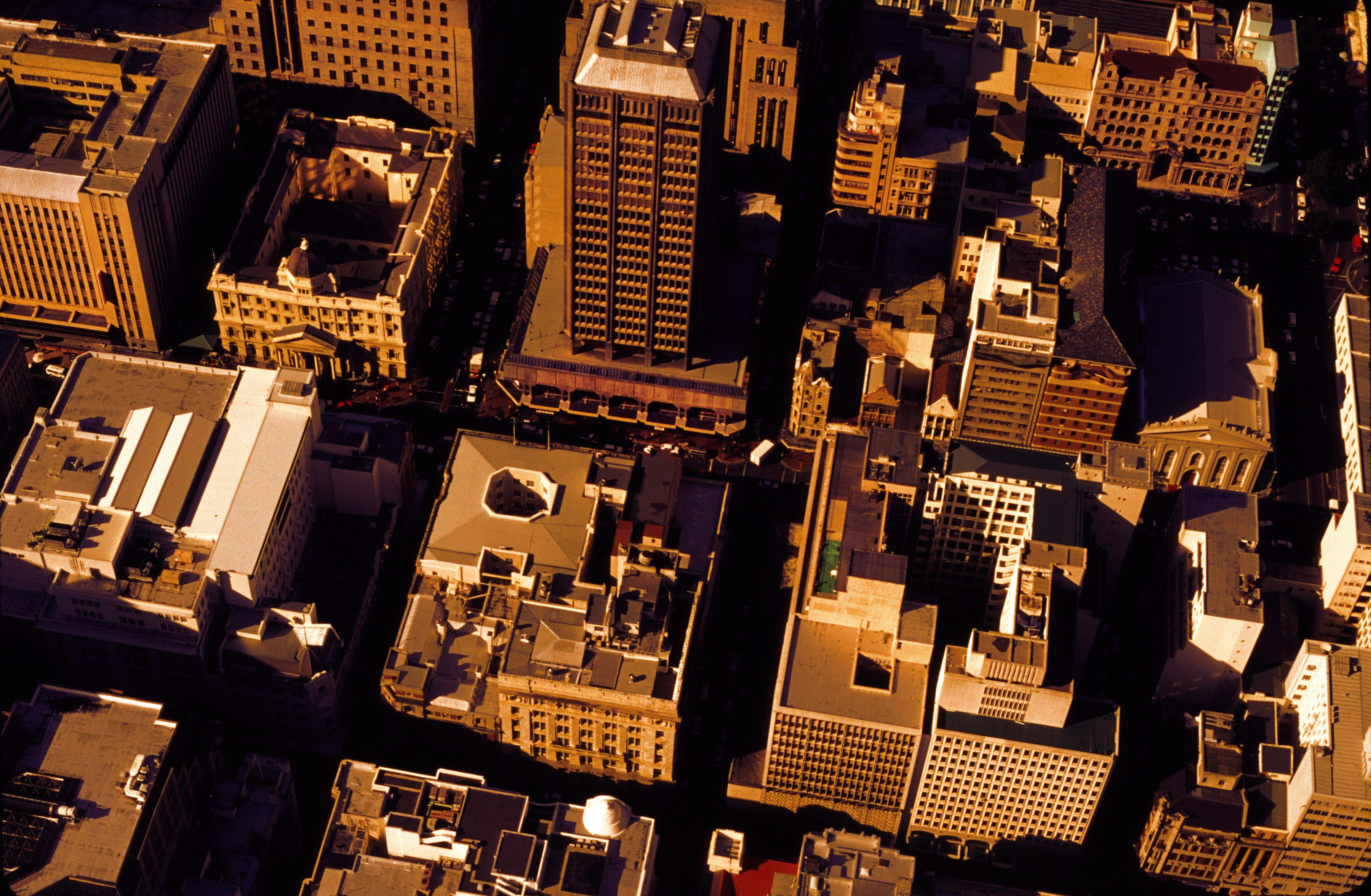 Aerial Photography of High Rise Buildings, Aerial view, Office, Tall, Street, HQ Photo
