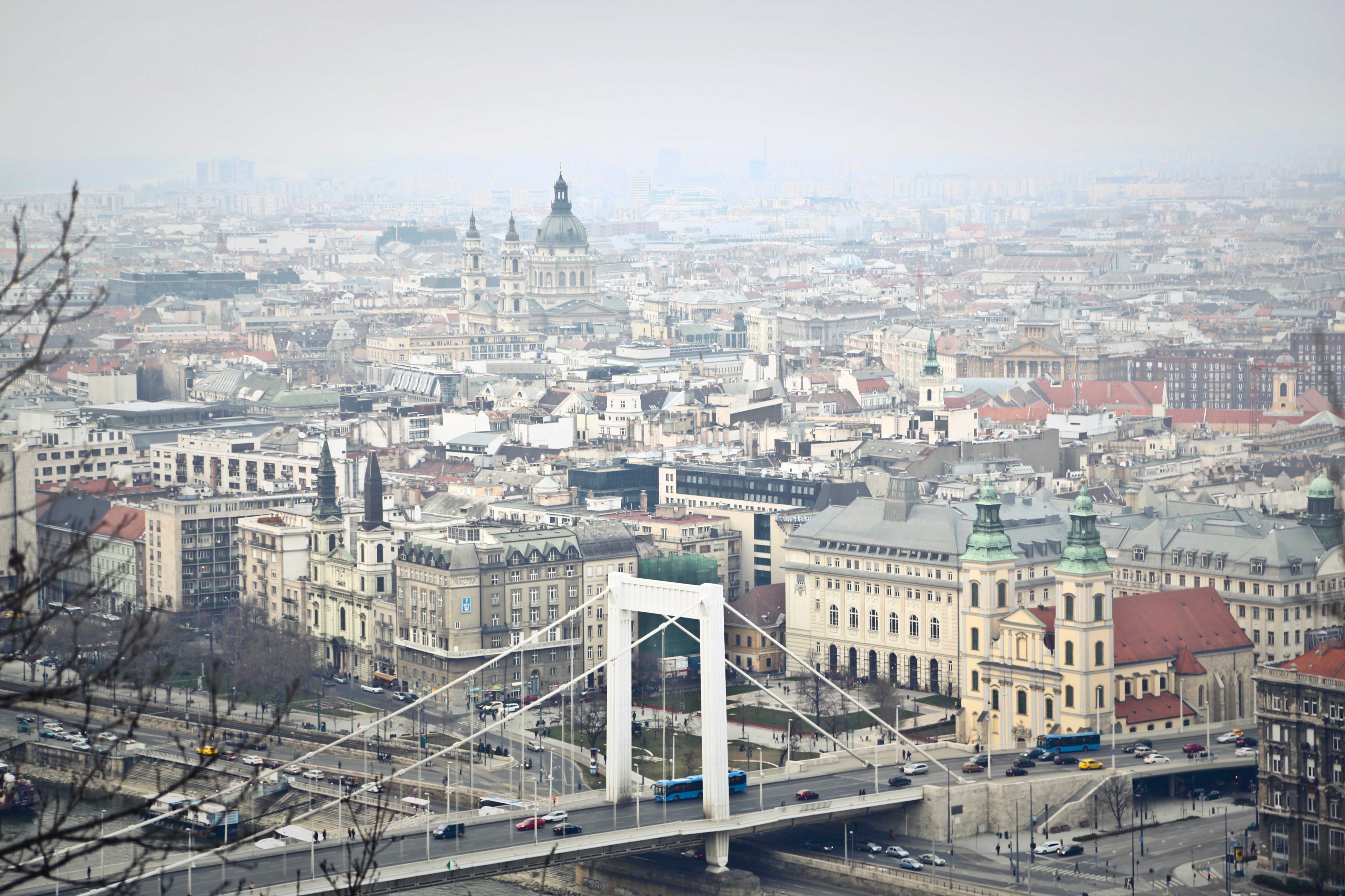 Aerial photography of the city