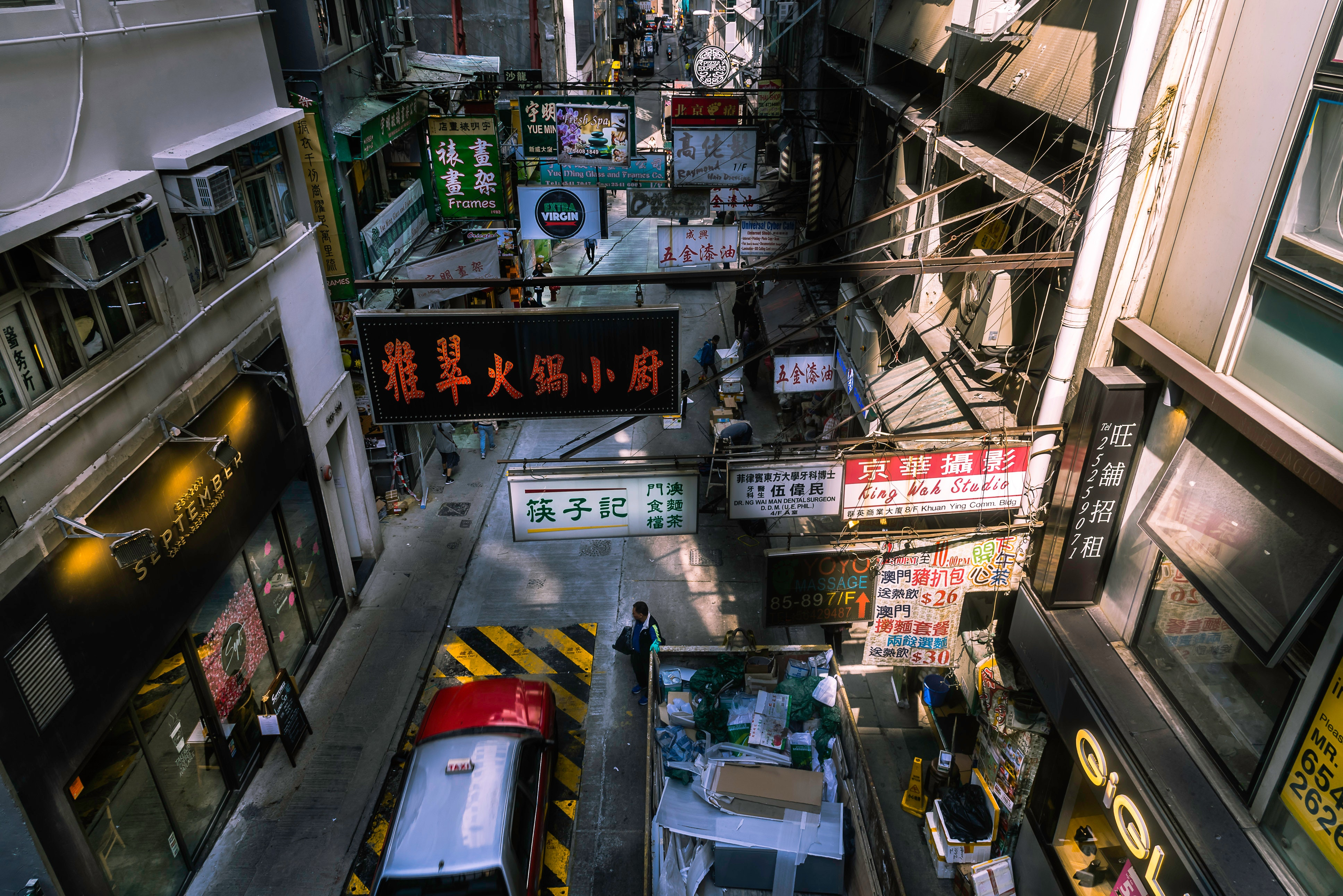 Aerial Photography of the Street, Shopping, Vehicle, Urban, Street, HQ Photo