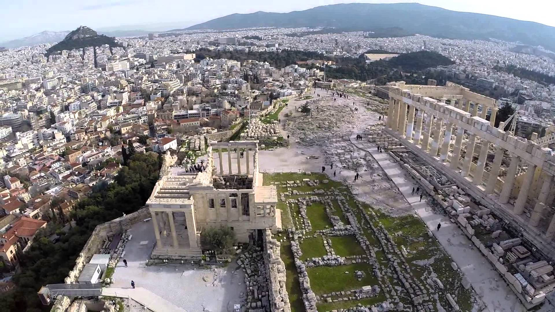 Acropolis Aerial view - YouTube