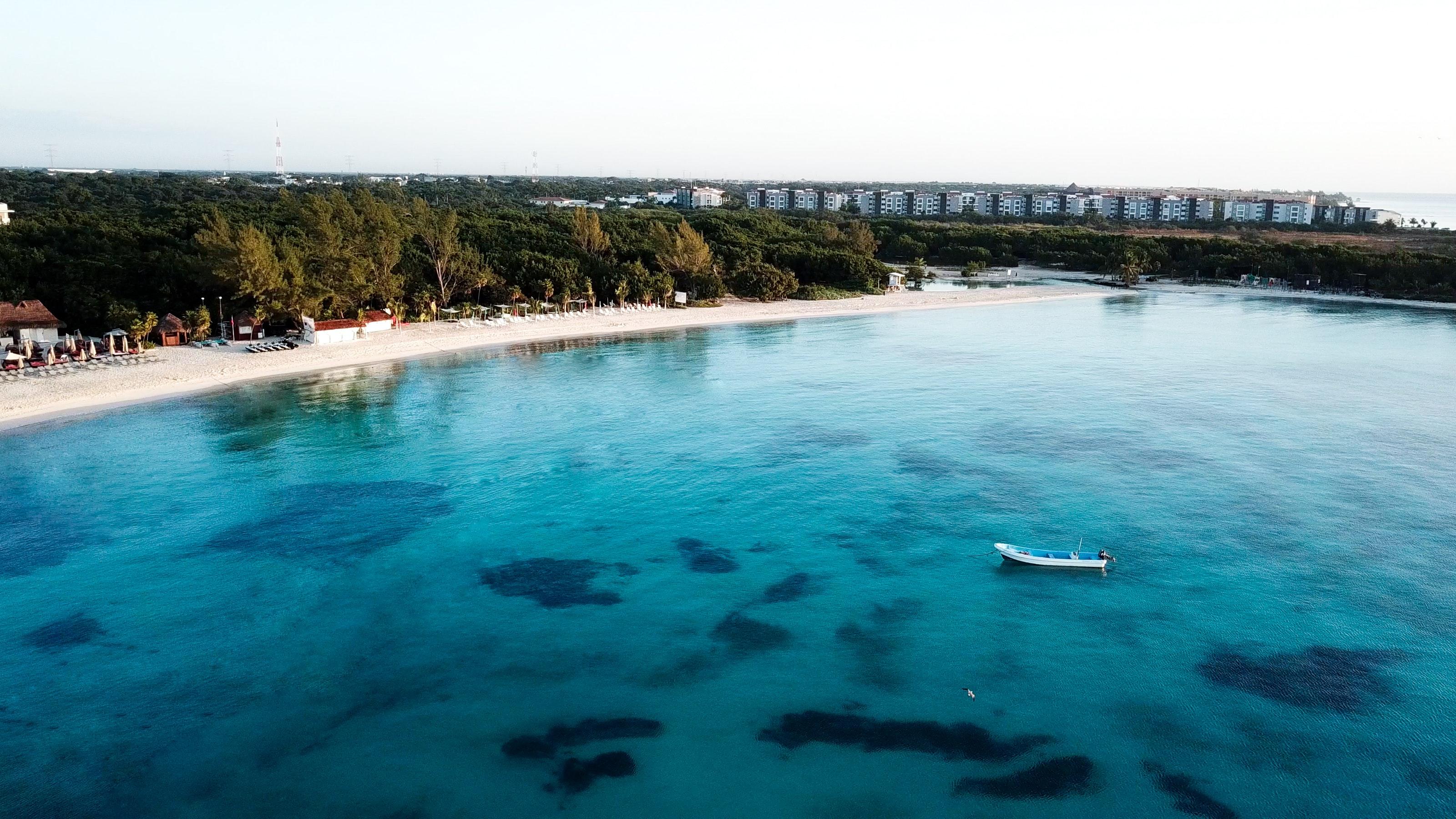 Aerial view of beach photo