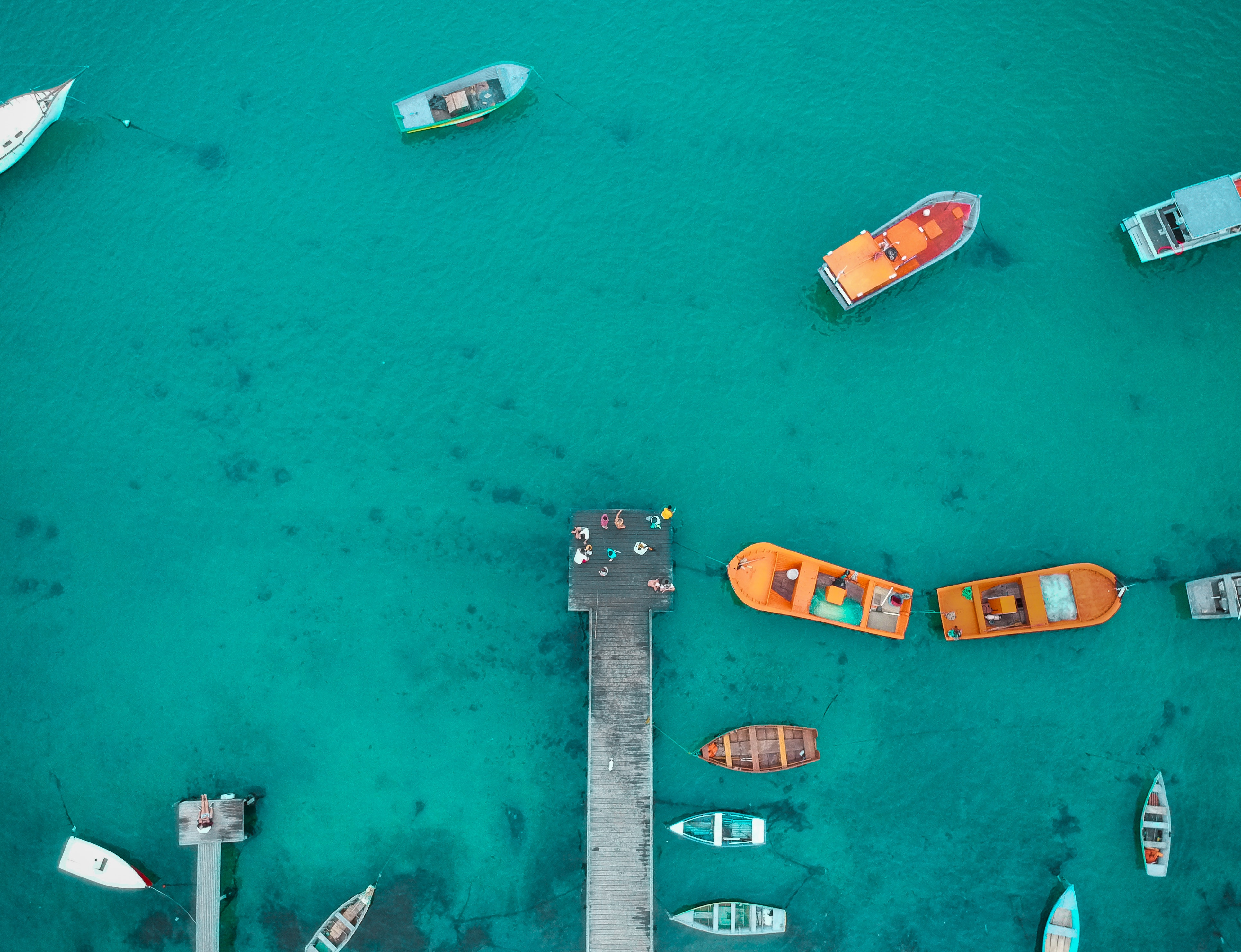 Aerial View of Boat Dock, Aerial view, Bird's eye view, Boats, Colors, HQ Photo