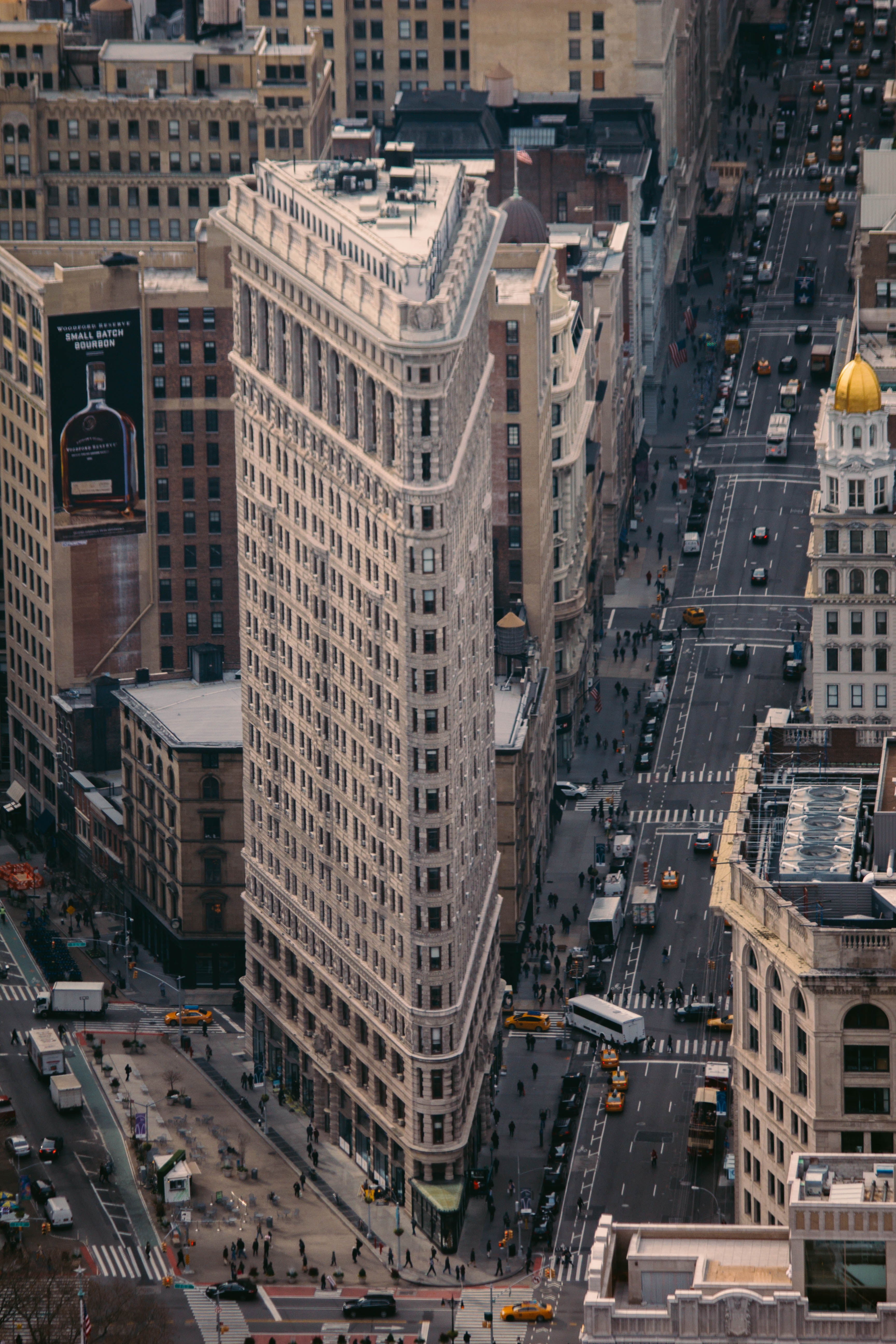 Aerial View of City, Office, Urban, Travel, Traffic, HQ Photo