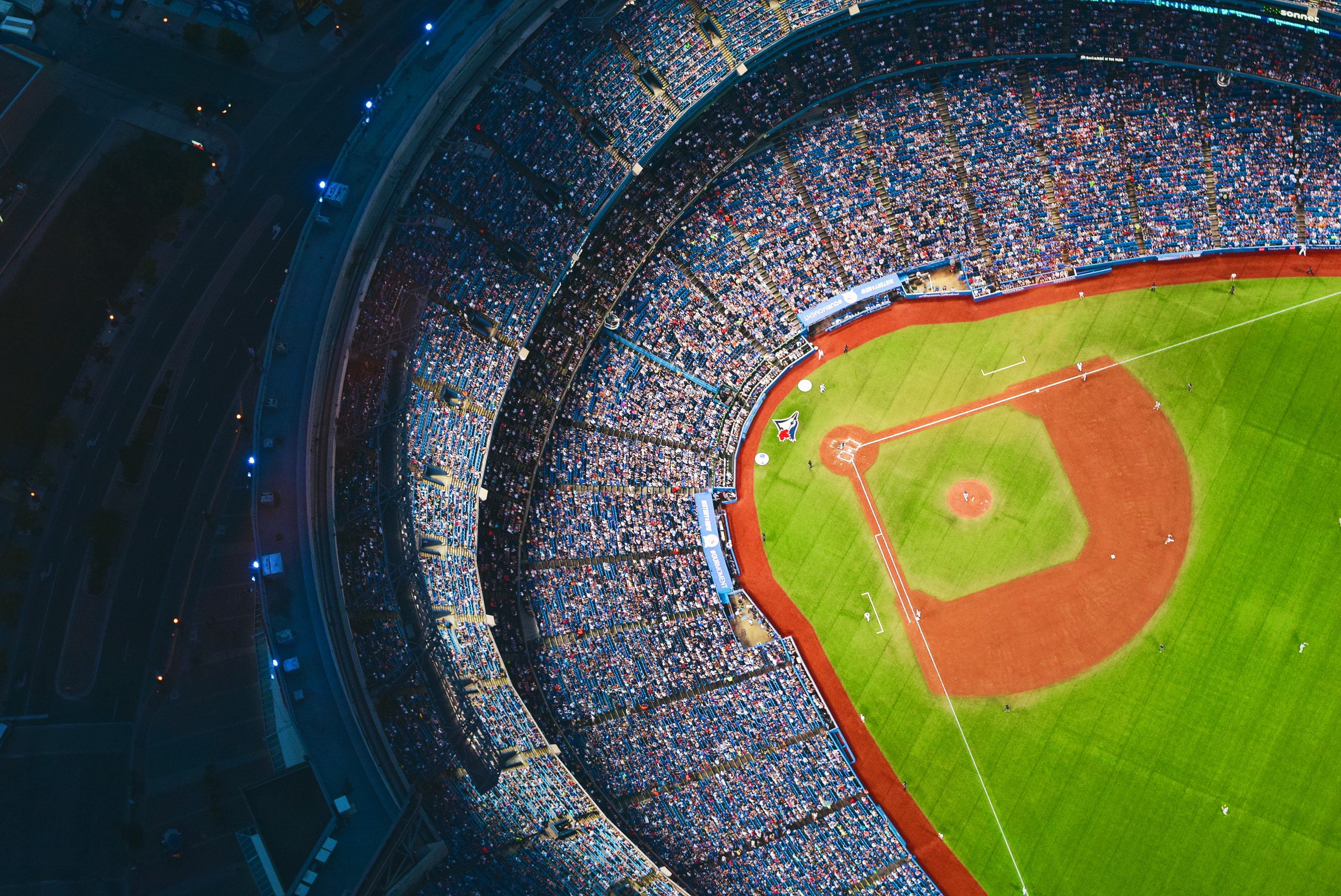 Aerial View of Sports Stadium during Daytime, Pattern, People, Outdoors, Lights, HQ Photo
