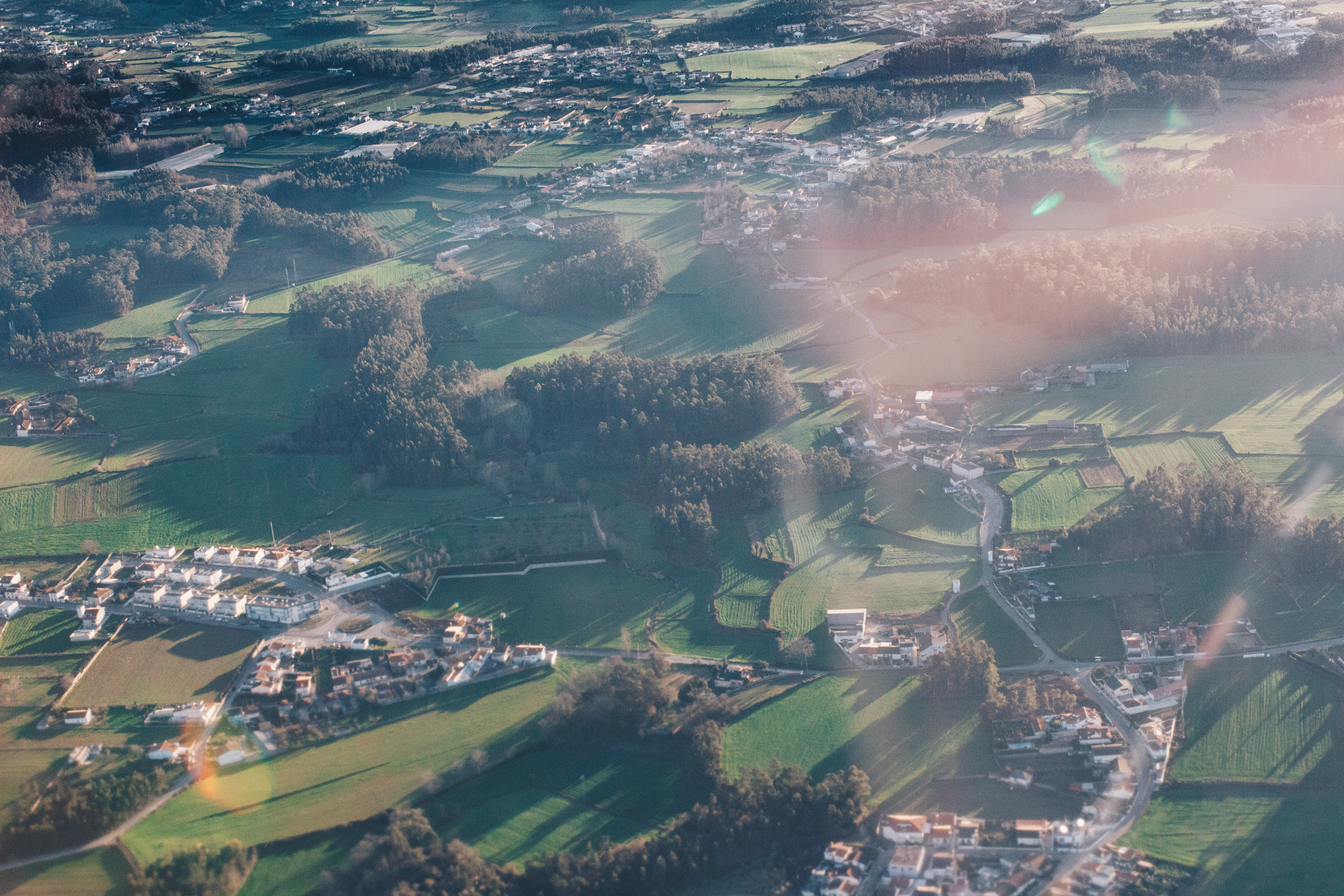 Aerial View of Town, Aerial, Outdoors, View, Vehicle, HQ Photo