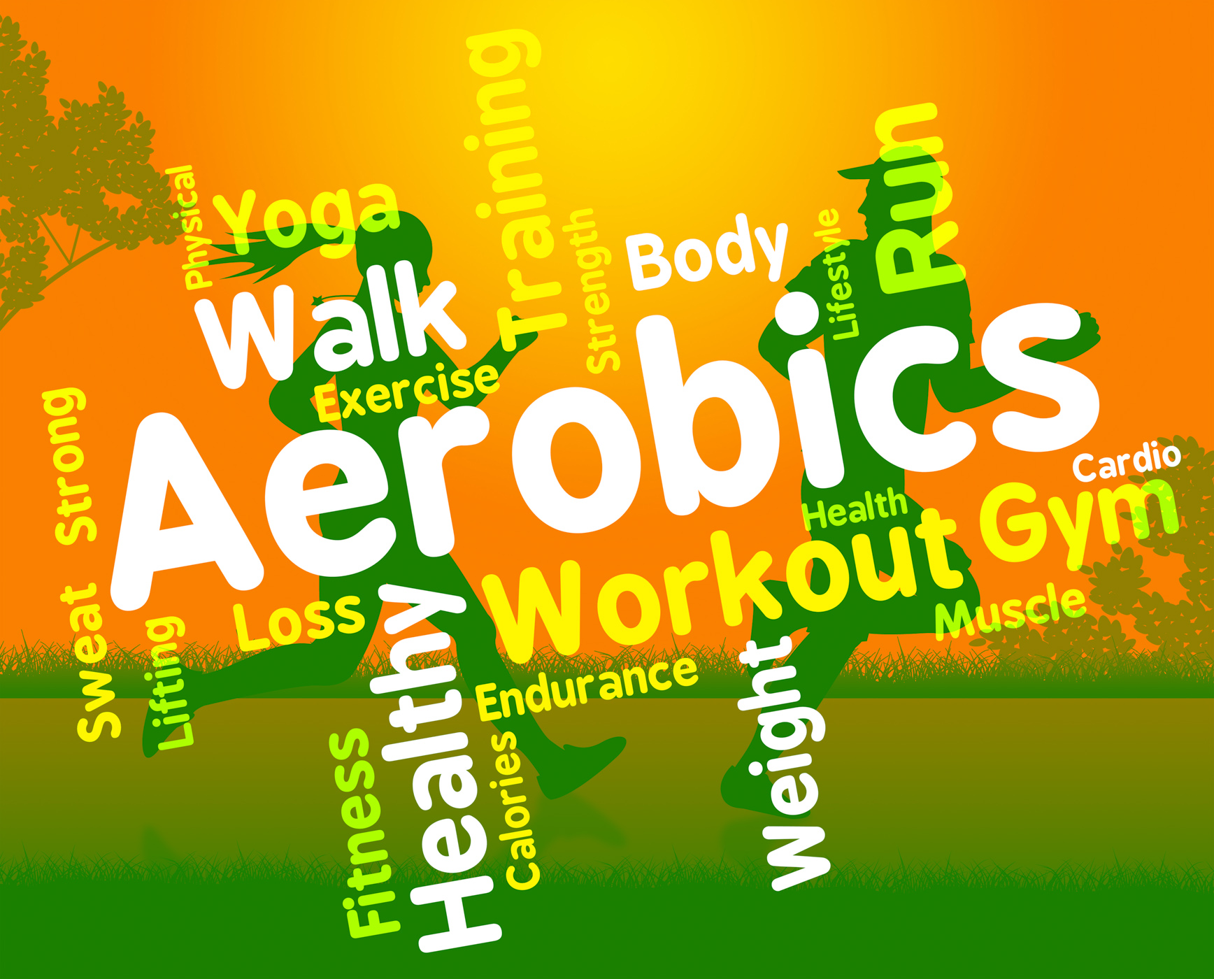 Aerobics Words Shows Get Fit And Cardio, Gym, Workingout, Work-out, Words, HQ Photo