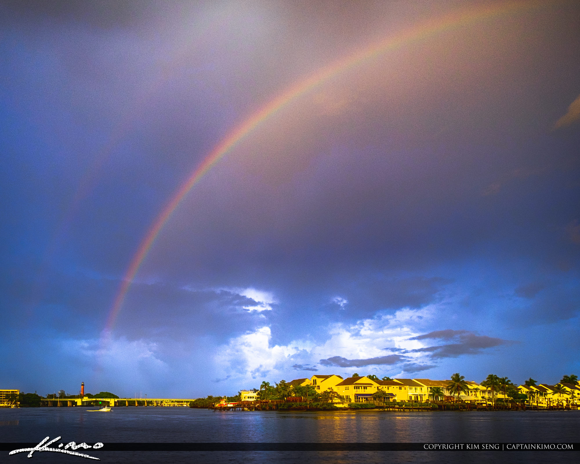Jupiter Lighthouse Rainbow at After the Storm