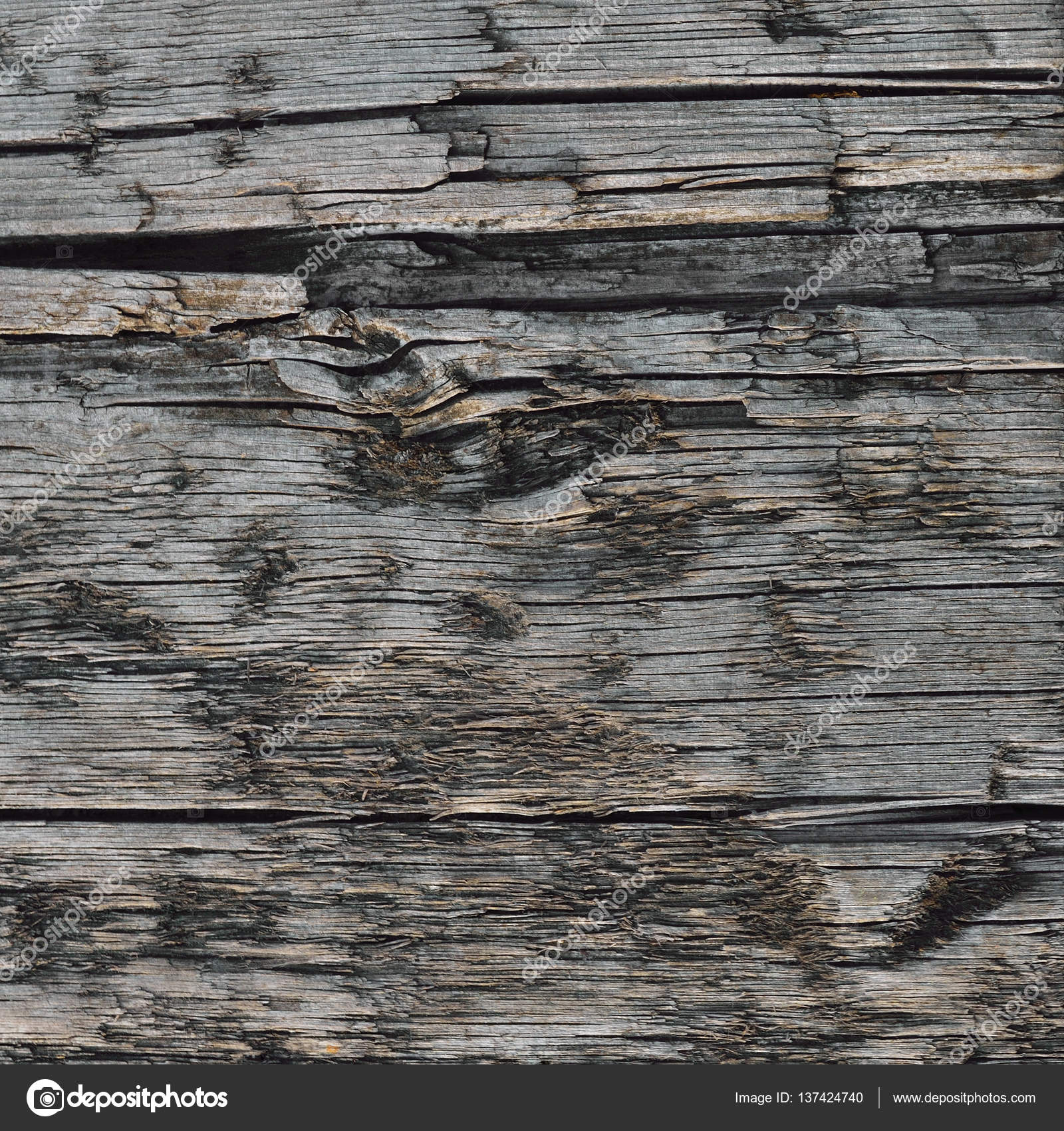 Natural Weathered Grey Tan Taupe Wooden Board, Cracked Ruined Rough ...