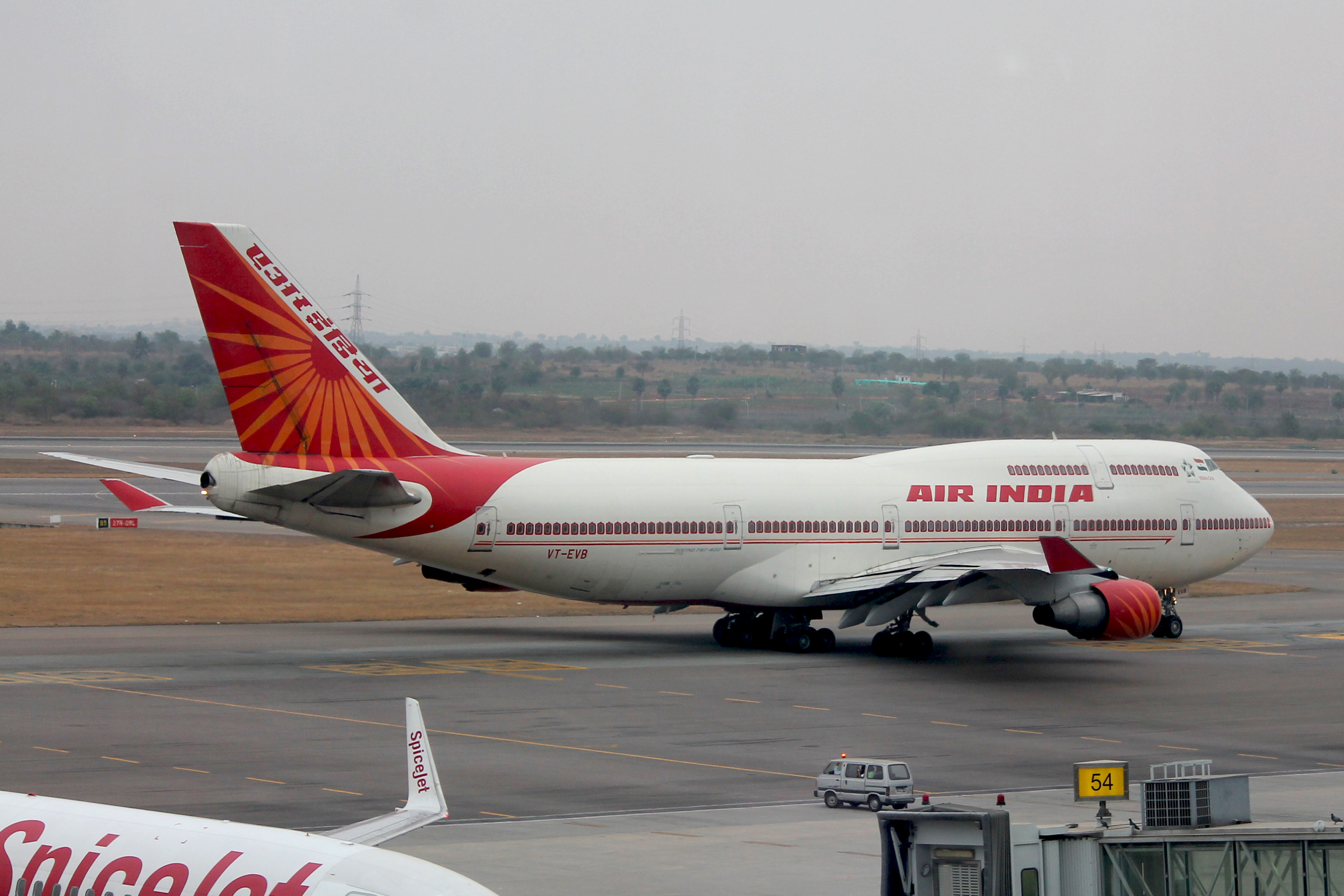 Air India, Boeing 747-437, Outdoor, Planes, Vehicle, Jetliner,