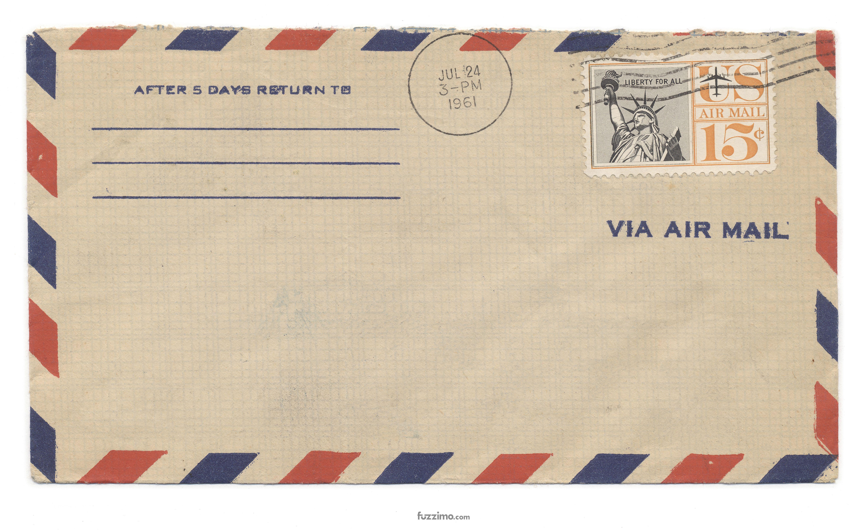 Air mail envelope photo
