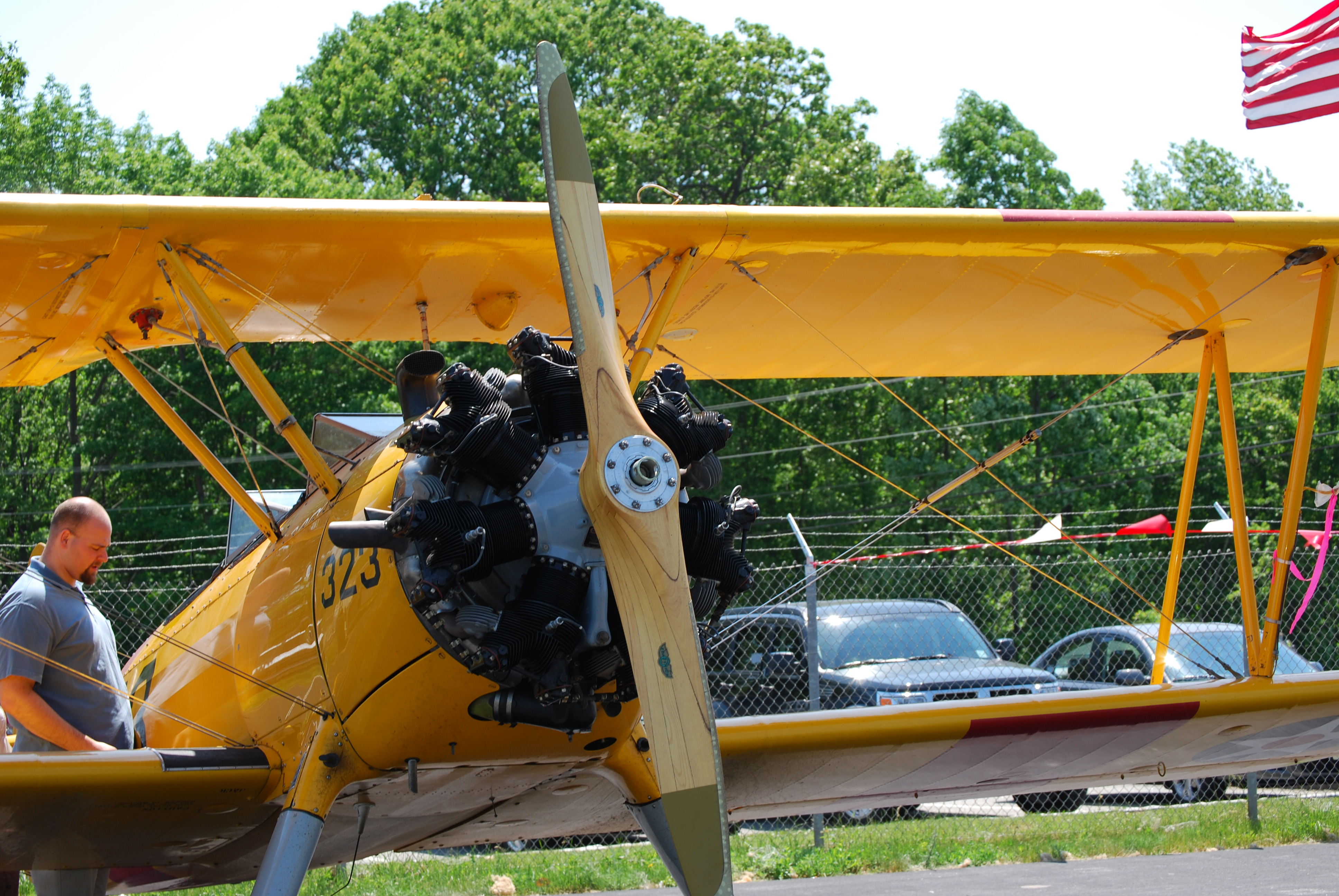Airplane, Machine, Metallic, Propeller, Wing, HQ Photo