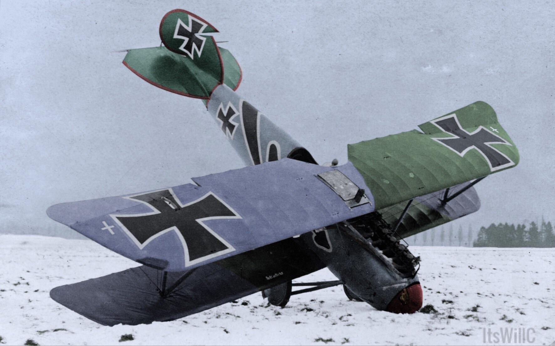 Hans von Hippels crashed Albatros D. Va sometime during 1917/1918 ...