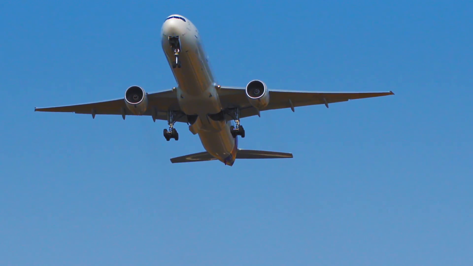 Airplane takeoff from runway landing strip of airport. Passenger jet ...