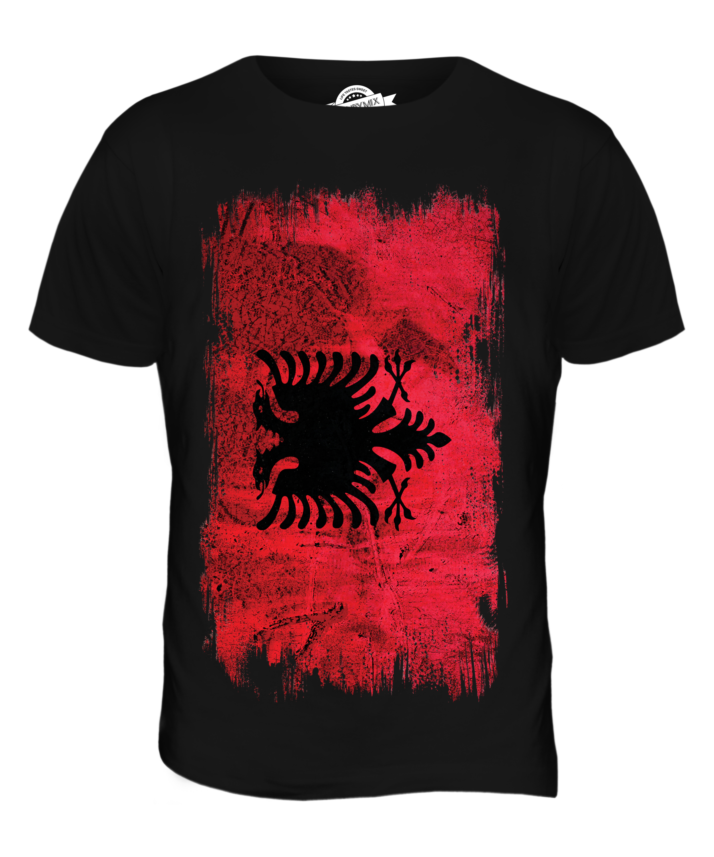 ALBANIA GRUNGE FLAG MENS T-SHIRT TEE TOP SHQIPËRIA FOOTBALL ALBANIAN ...