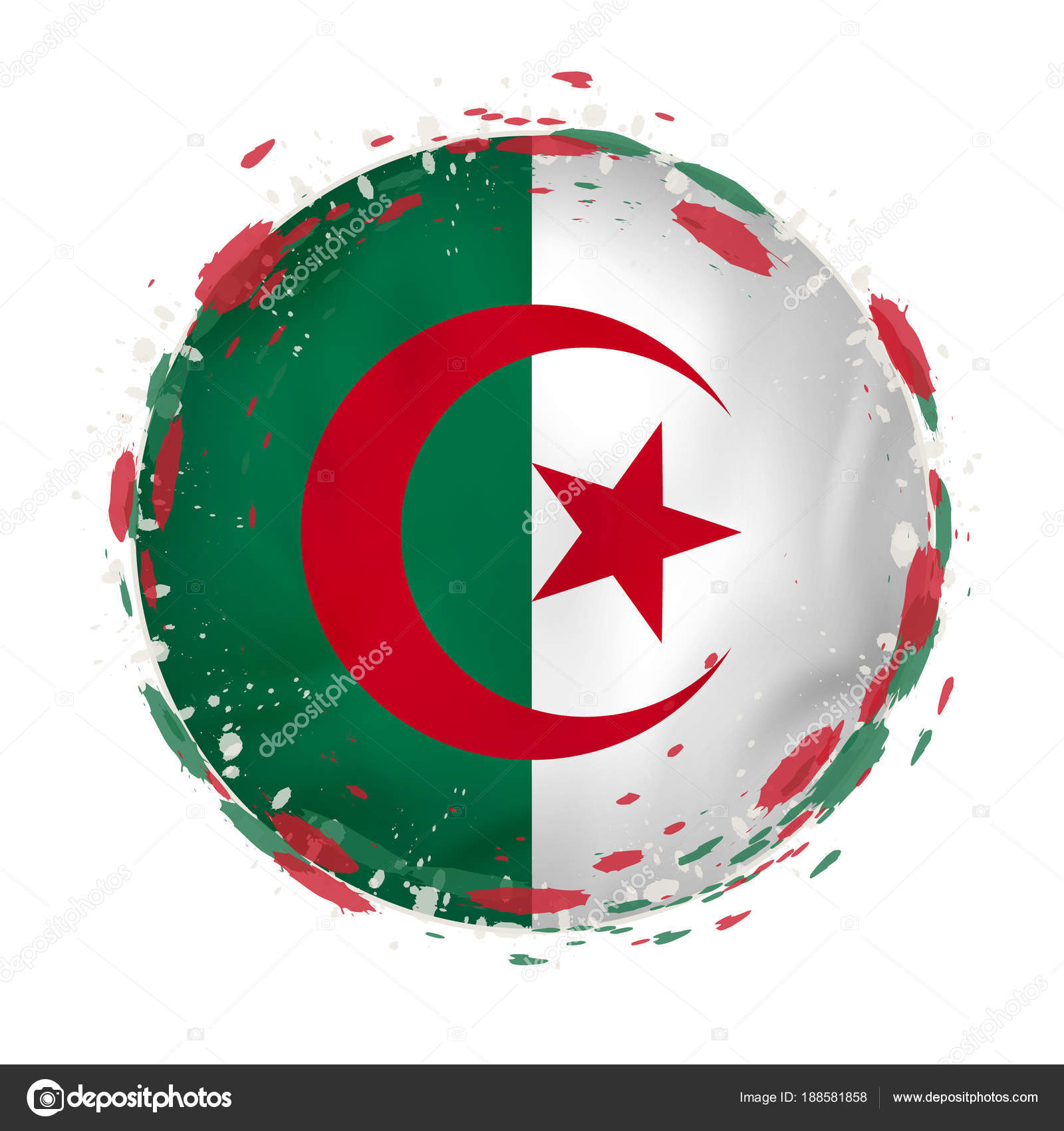 Algeria grunge flag photo