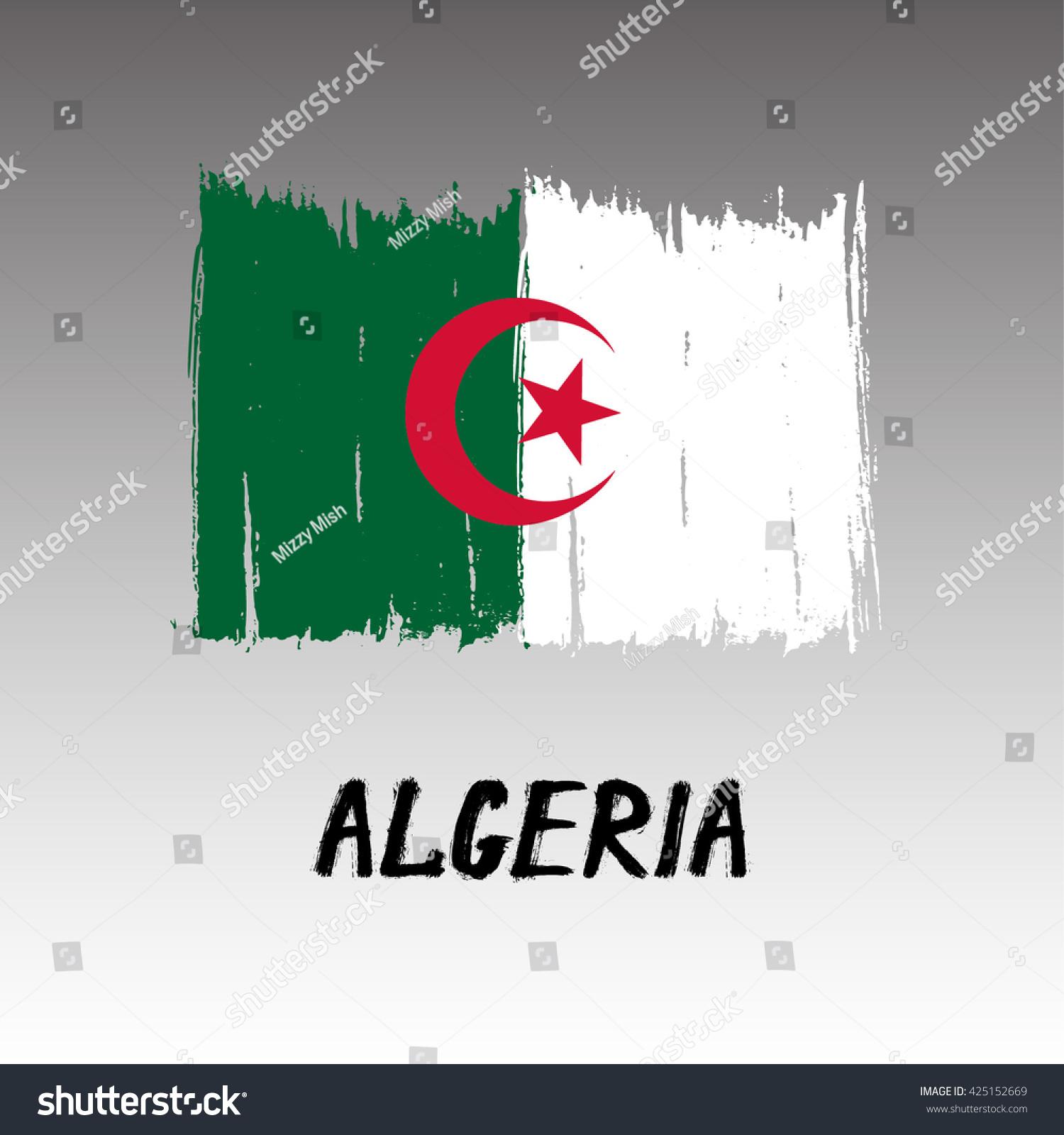 Flag Algeria Grunge Stock Vector 425152669 - Shutterstock