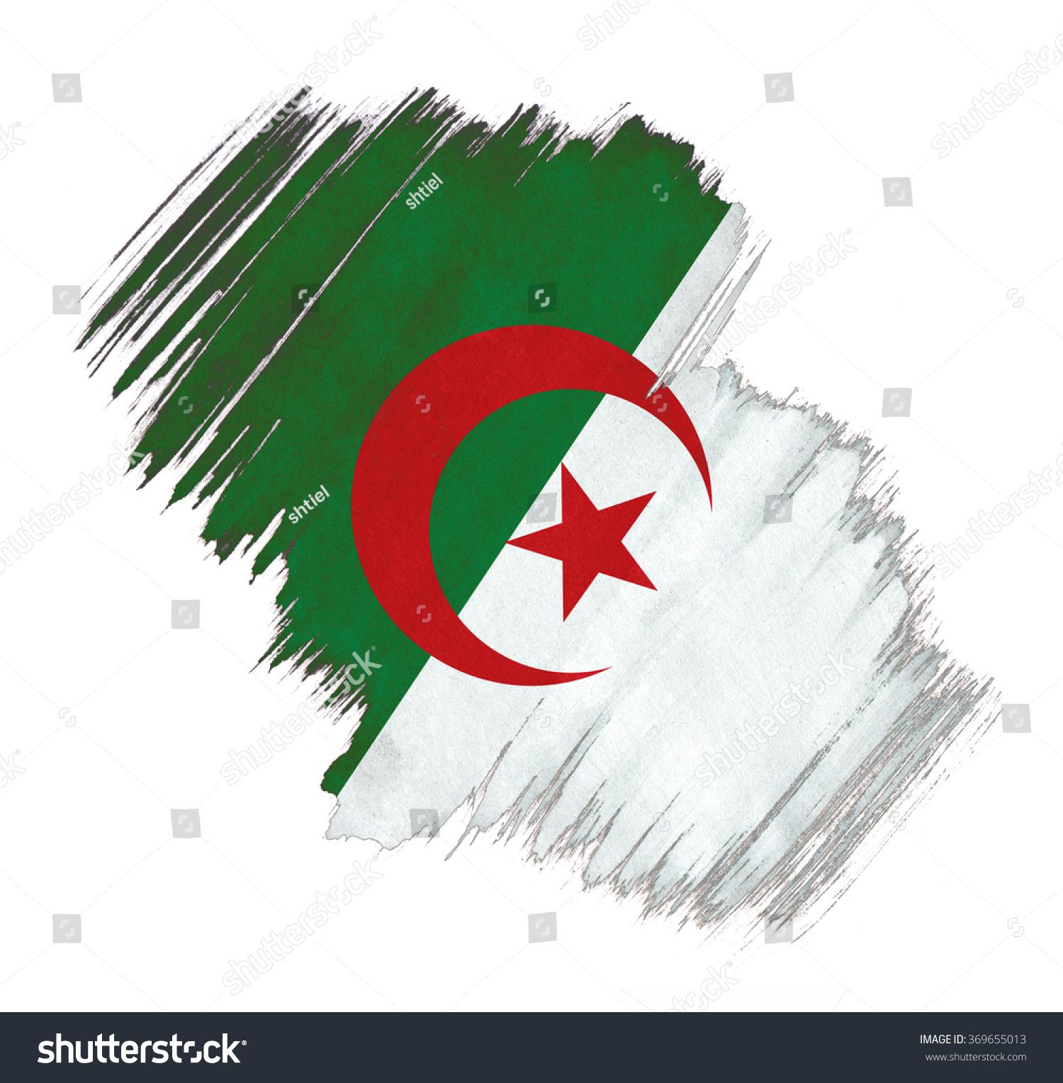 Algeria Flag Grunge Stain Stock Illustration 369655013 - Shutterstock
