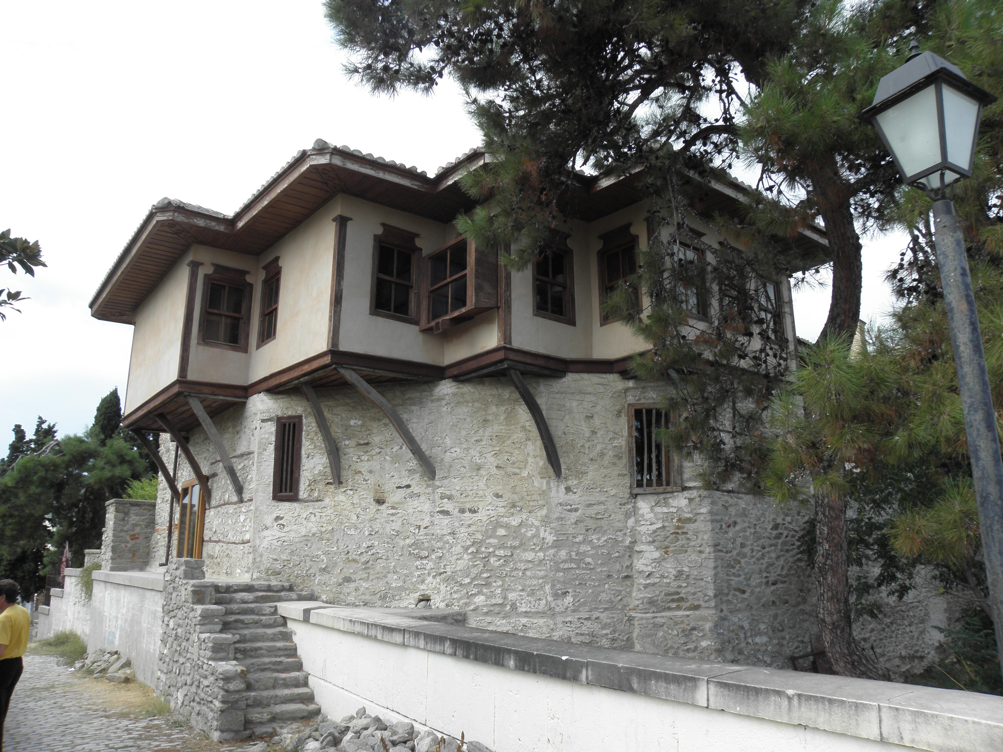 Ali pashas house in kavala, greece photo