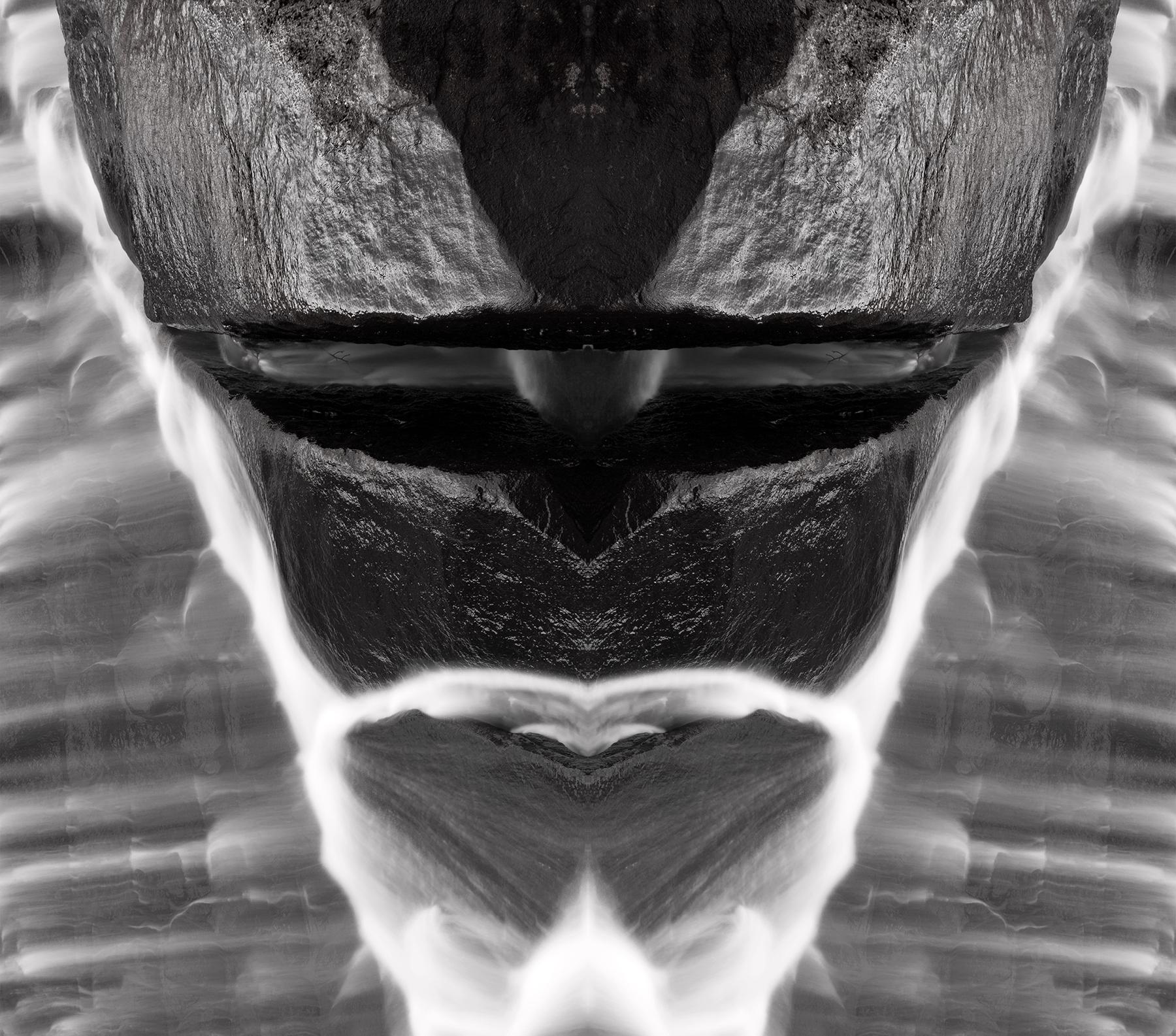 Alien Tribal Mask - Black & White, Abstract, Nose, Rocks, Rock, HQ Photo