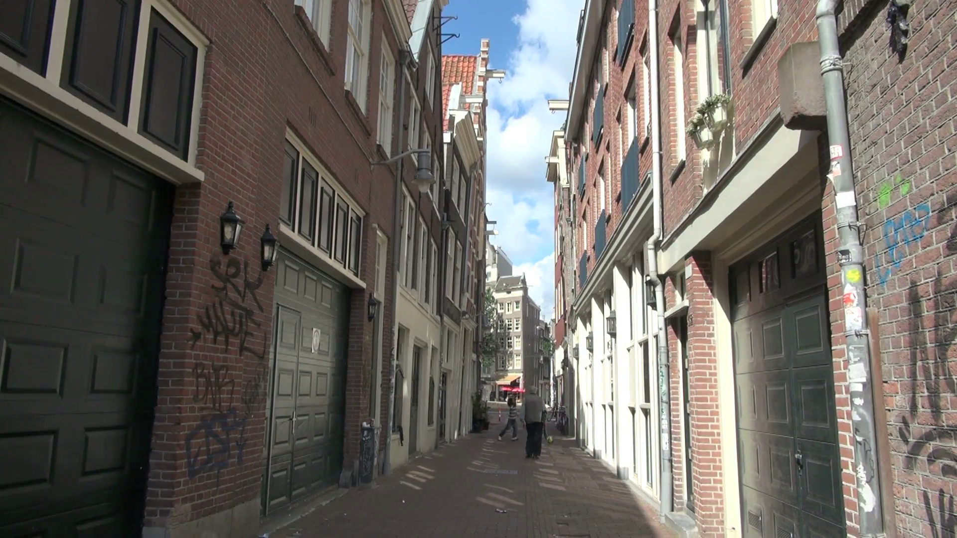 Alleyway in Amsterdam Stock Video Footage - Videoblocks