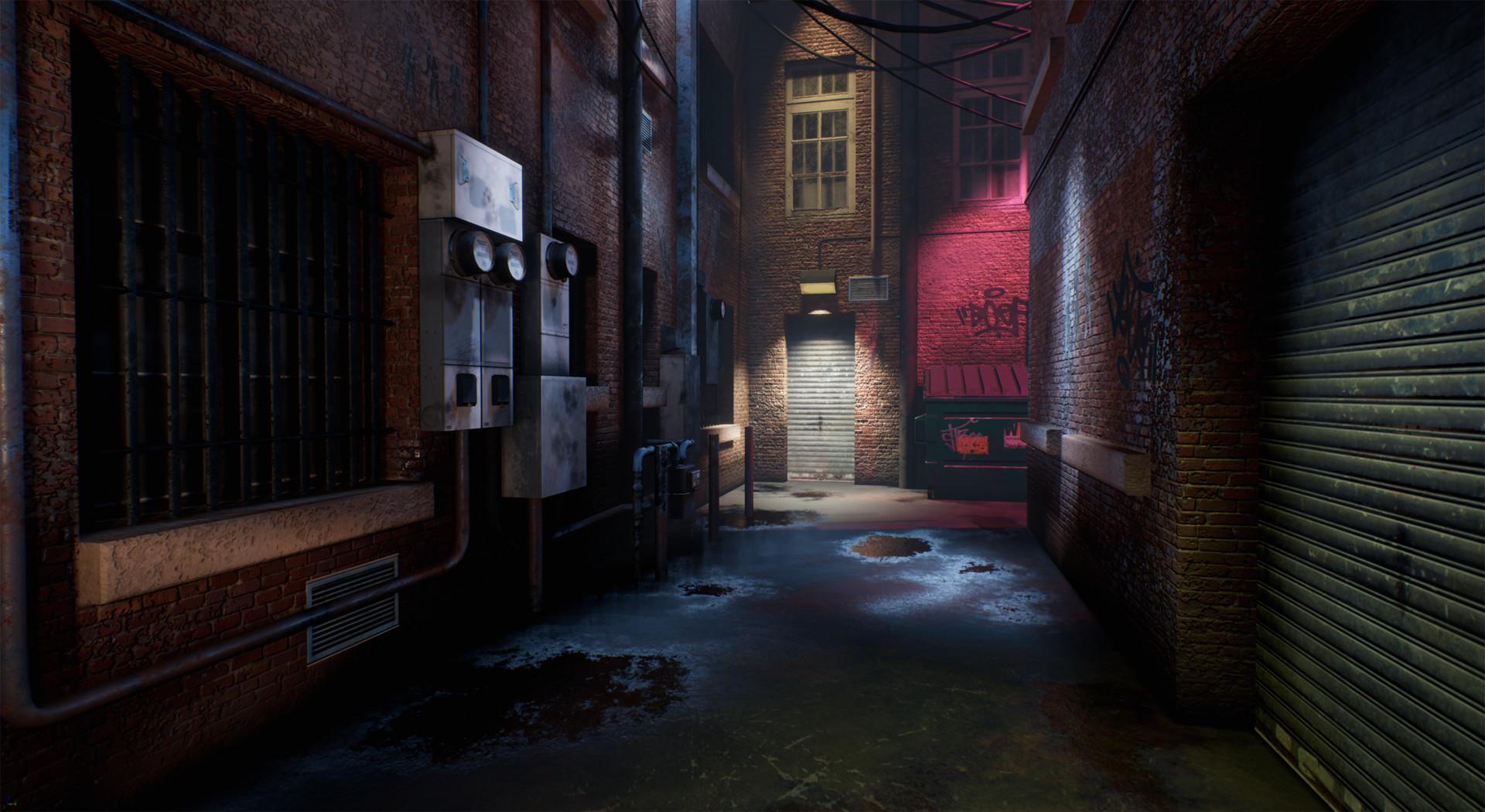 Gabriela Escamilla - Night Alleyway