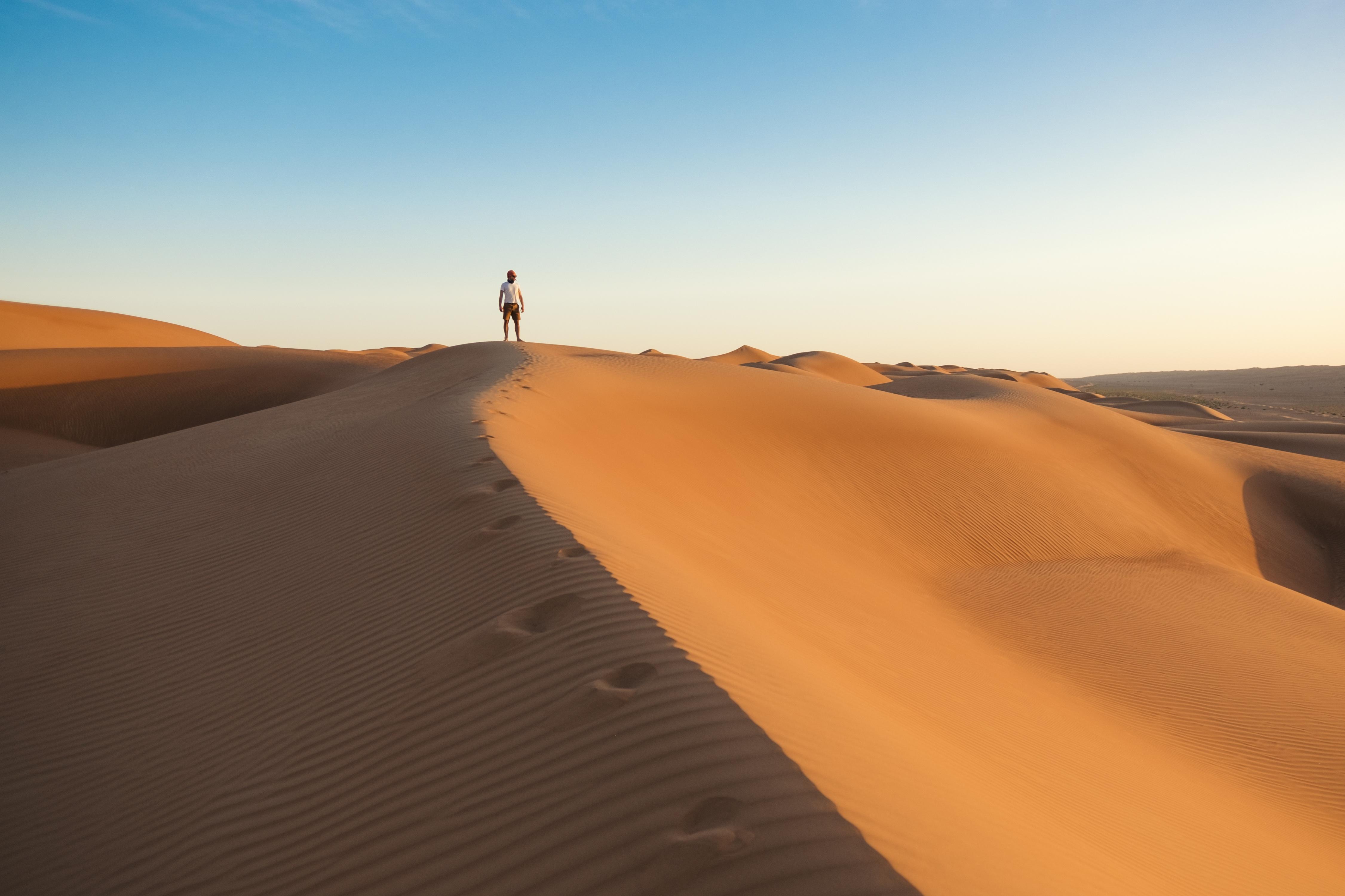 Alone in the vast Desert, Alone, Desert, Hot, Landscape, HQ Photo