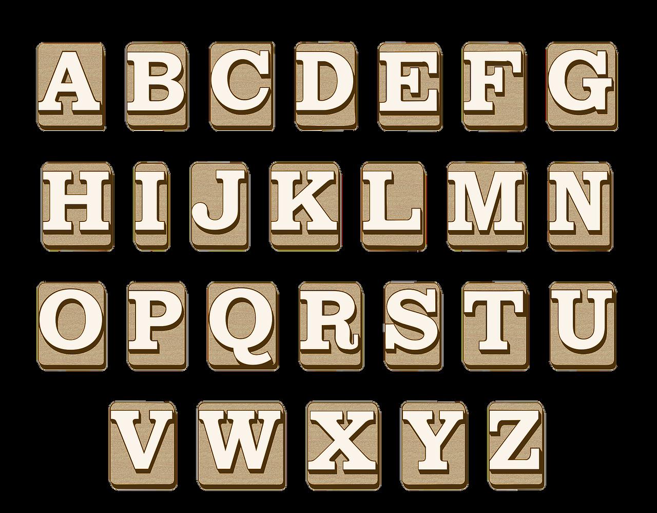 Alphabet keys photo