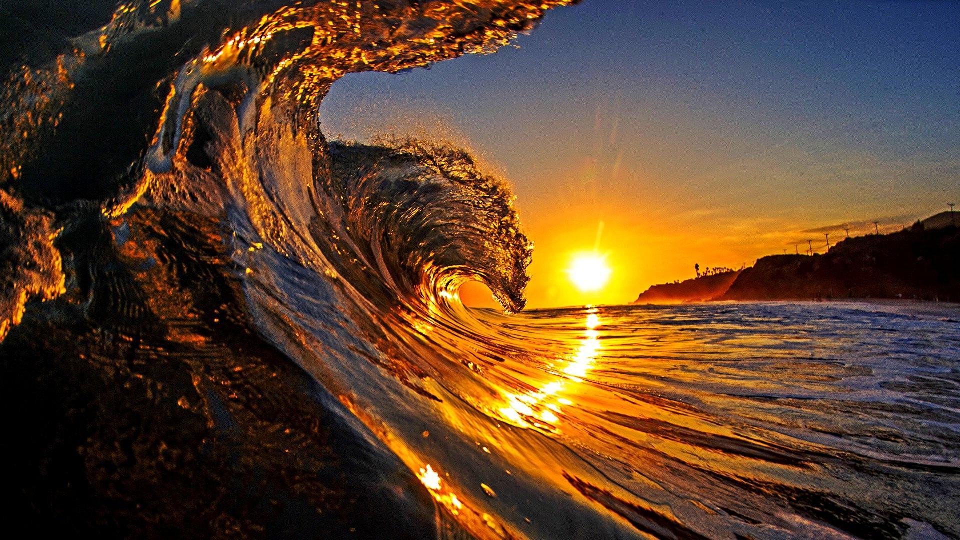 Sea sail waves and sunshine amazing wallpapers | HD Wallpapers Rocks
