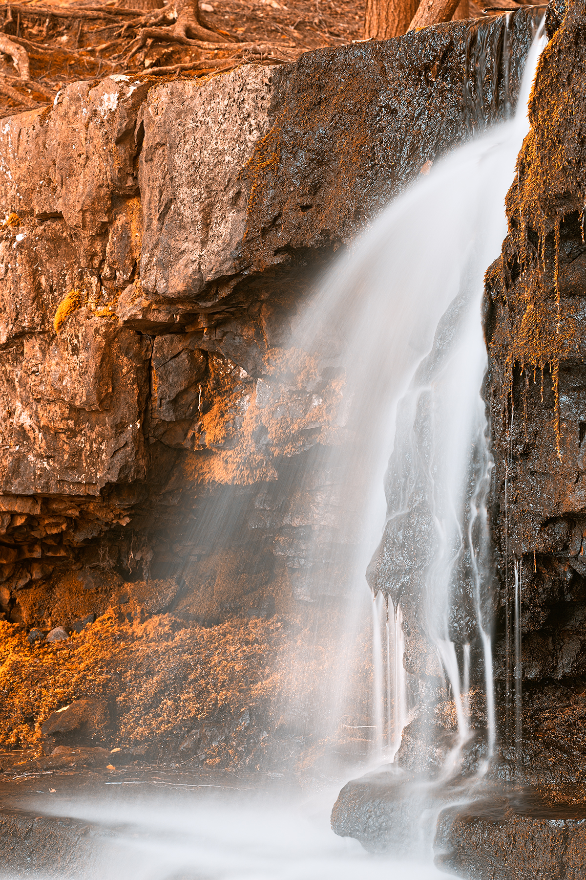 Amber Falls - HDR, Amber, Outside, Scene, Rocky, HQ Photo