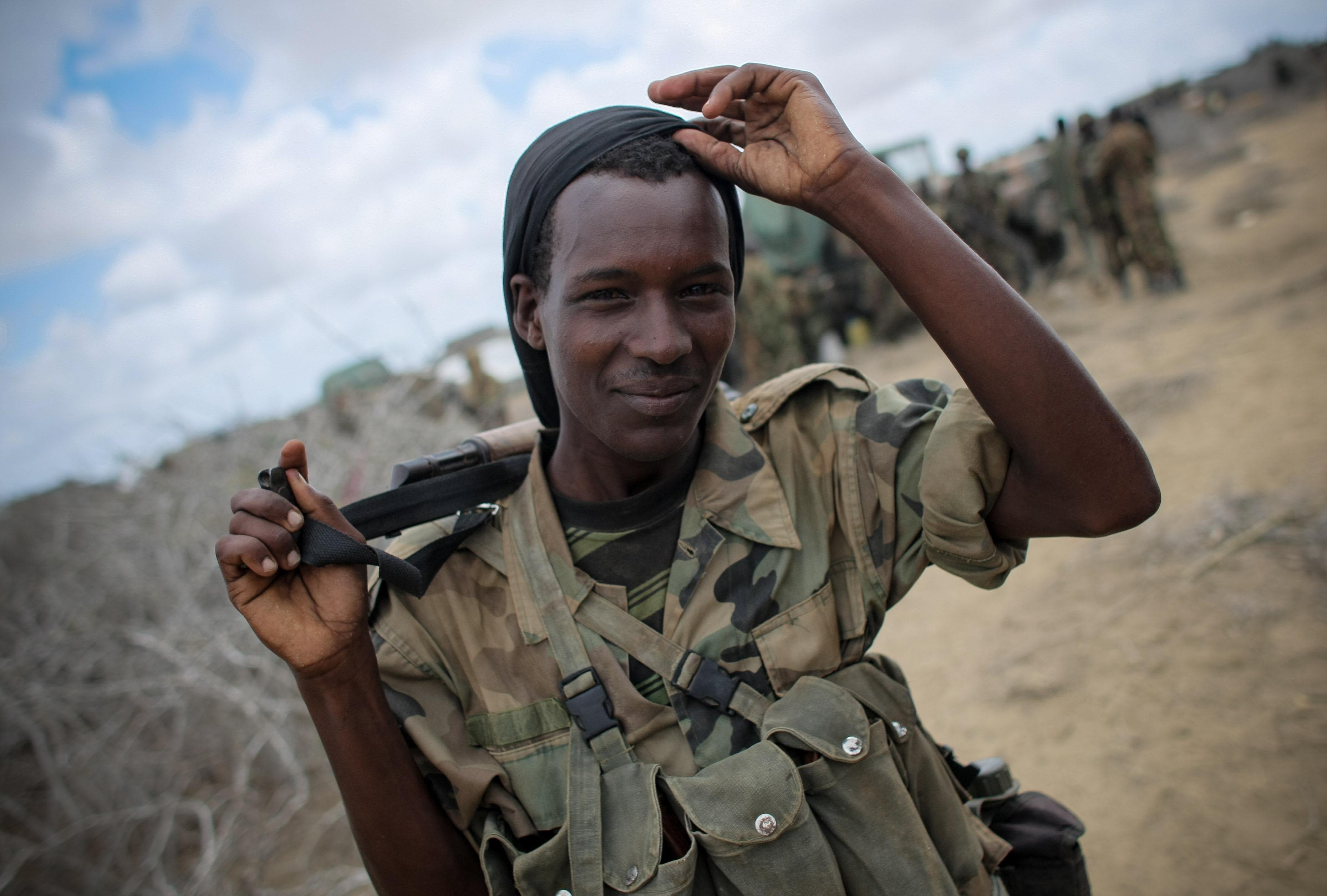 AMISOM forces in Saa'moja outside Kismayo 10, AMISOM, Army, Kenya, Kismayo, HQ Photo