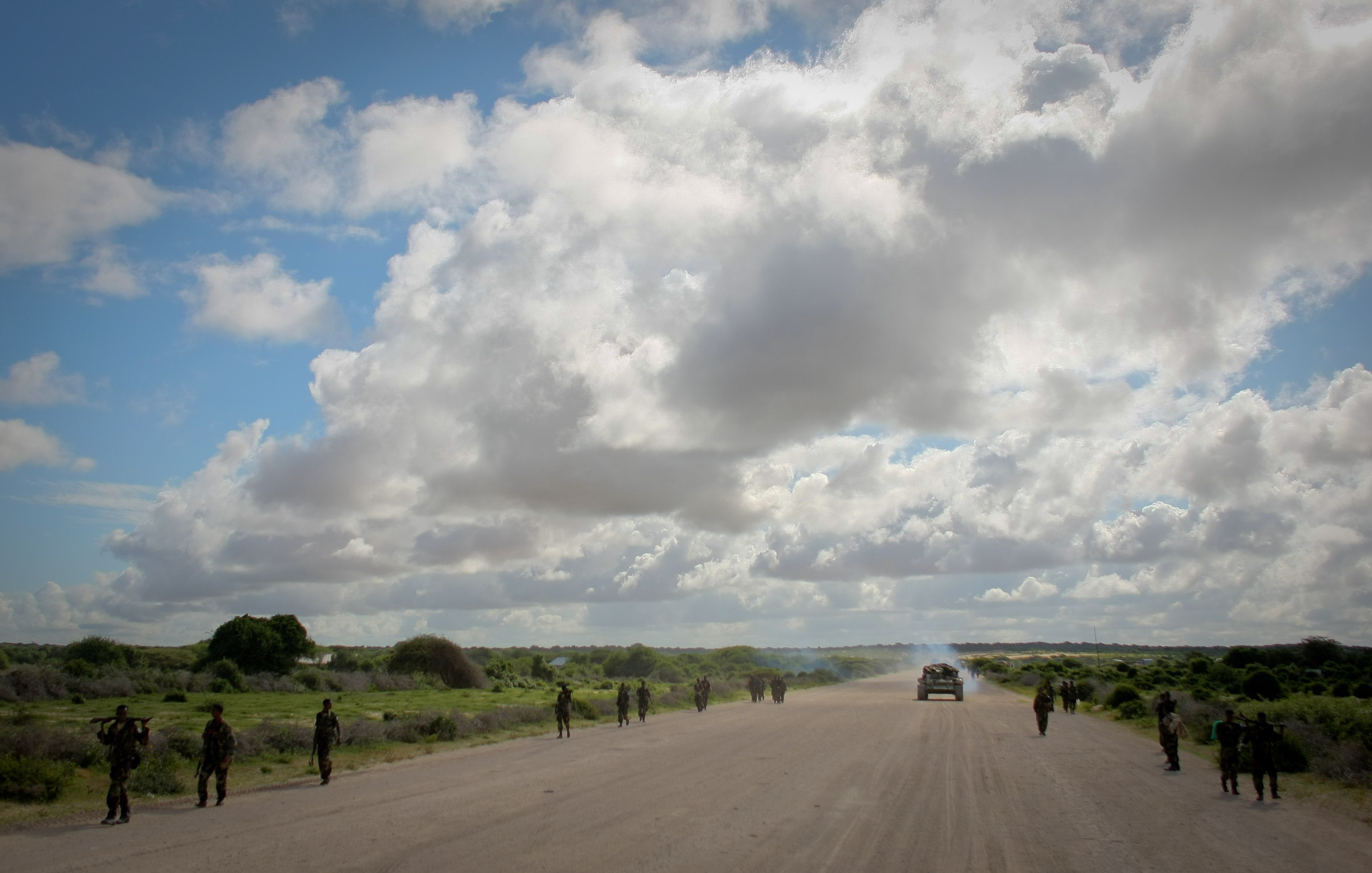 AMISOM & Somali National Army operation to capture Afgoye Corridor Day #1 07, Security, Outdoor, Sky, Somali, HQ Photo