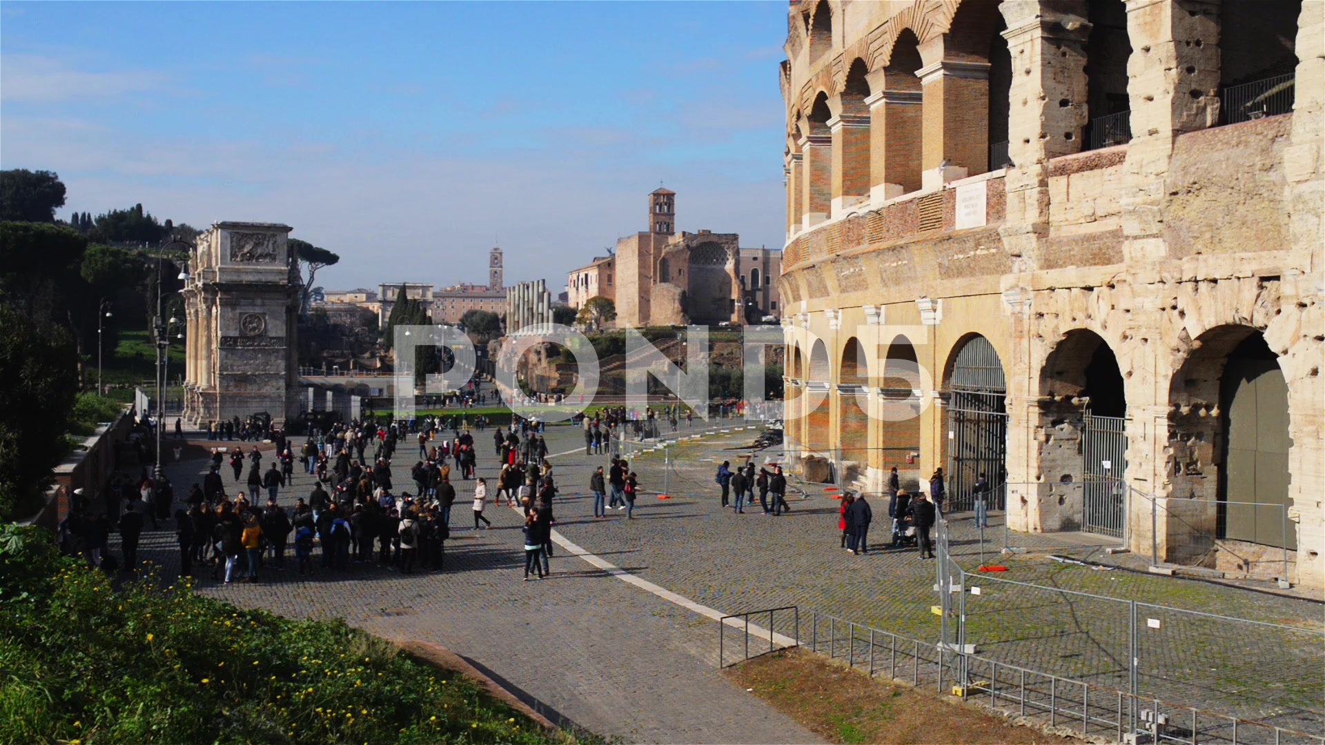 Colosseum or Flavian Amphitheatre in Rome, Italy ~ Footage #63049628