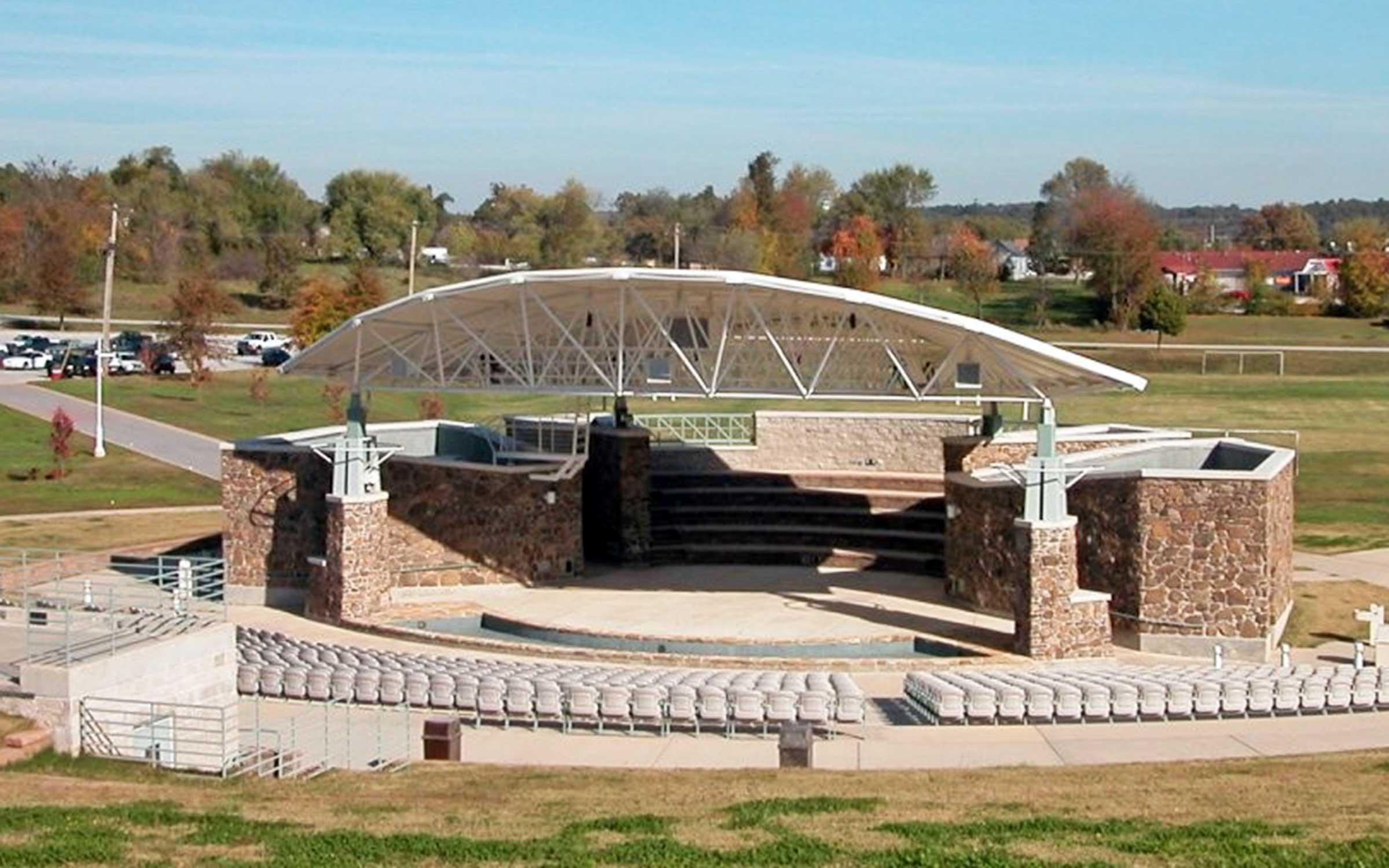 North Arkansas College: Bill Baker Amphitheatre - Novum Structures