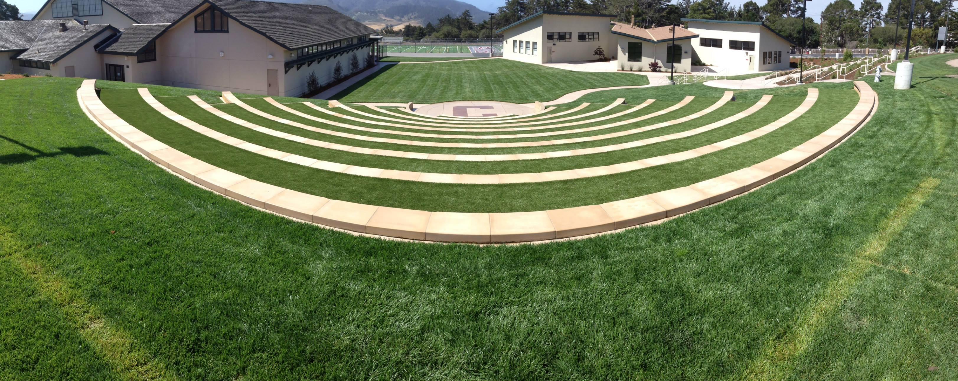 Carmel High School Amphitheatre - Xtreme Green Synthetic Turf