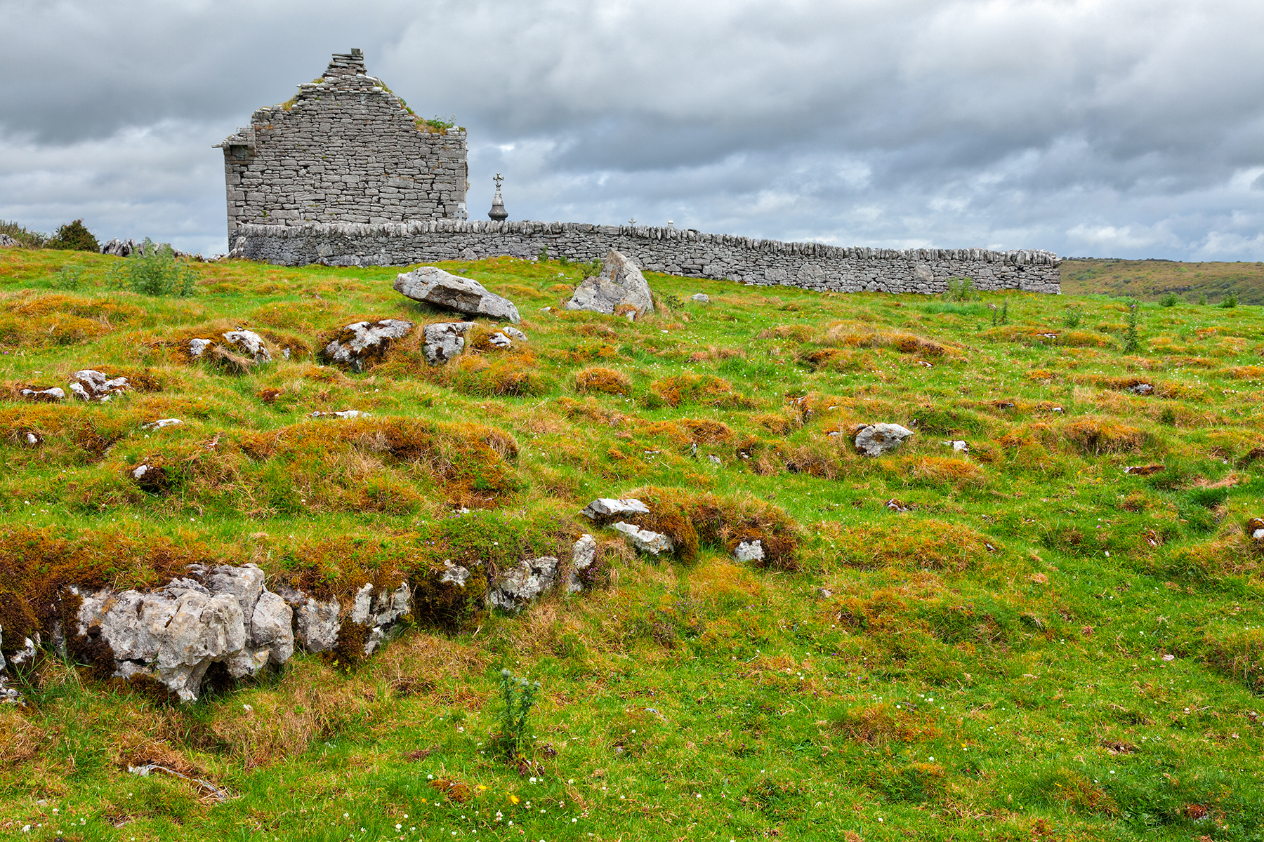 Ancient Chapel Ruins - HDR, Age, Old, Pretty, Poulnabrone, HQ Photo