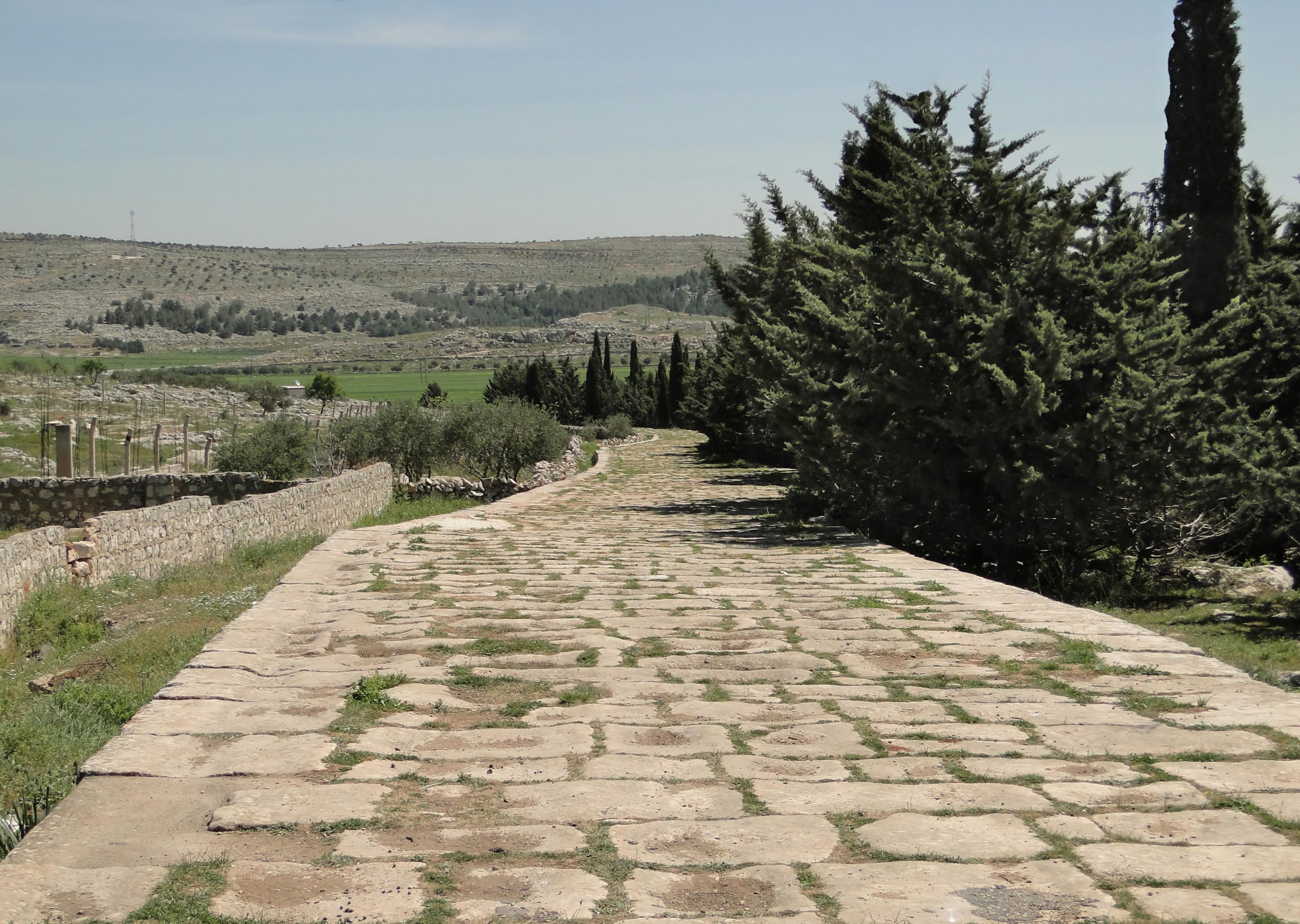 File:Ancient Roman road of Tall Aqibrin.jpg - Wikimedia Commons