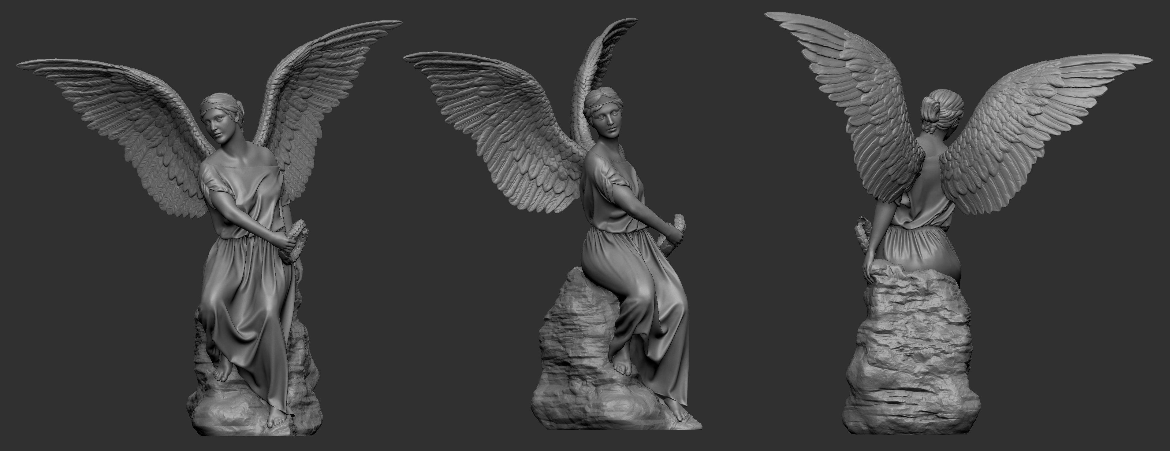 Angel Statue 3D printable model human   CGTrader