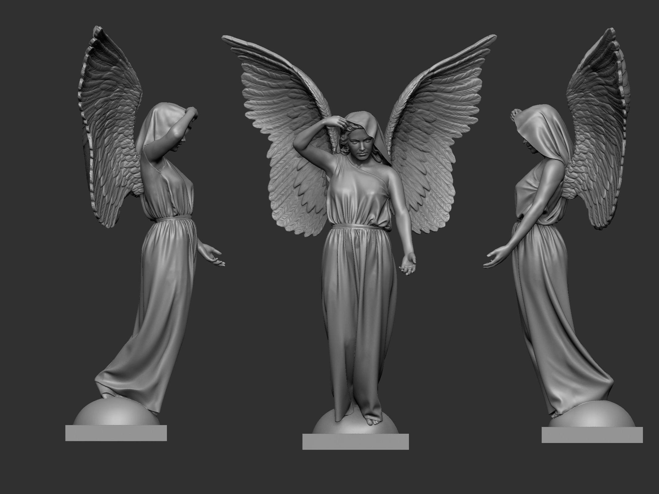 3D printable model Angel Statue   CGTrader