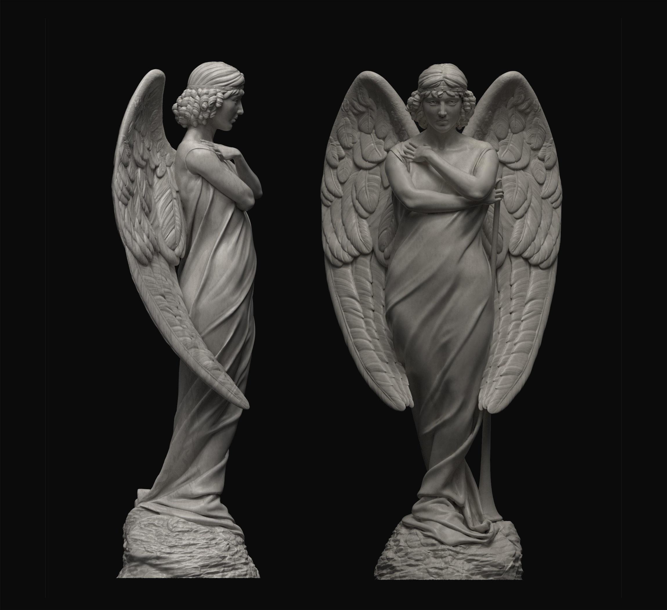 3D print model Angel Statue   CGTrader